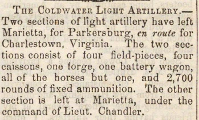 The Coldwater Light Artillery image