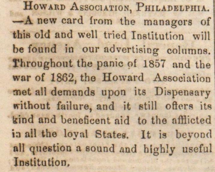Howard Association, Philadelphia image