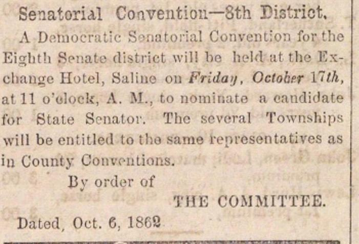Senatorial Convention--8th District image