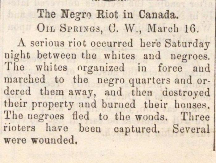 The Negro Riot In Canada image