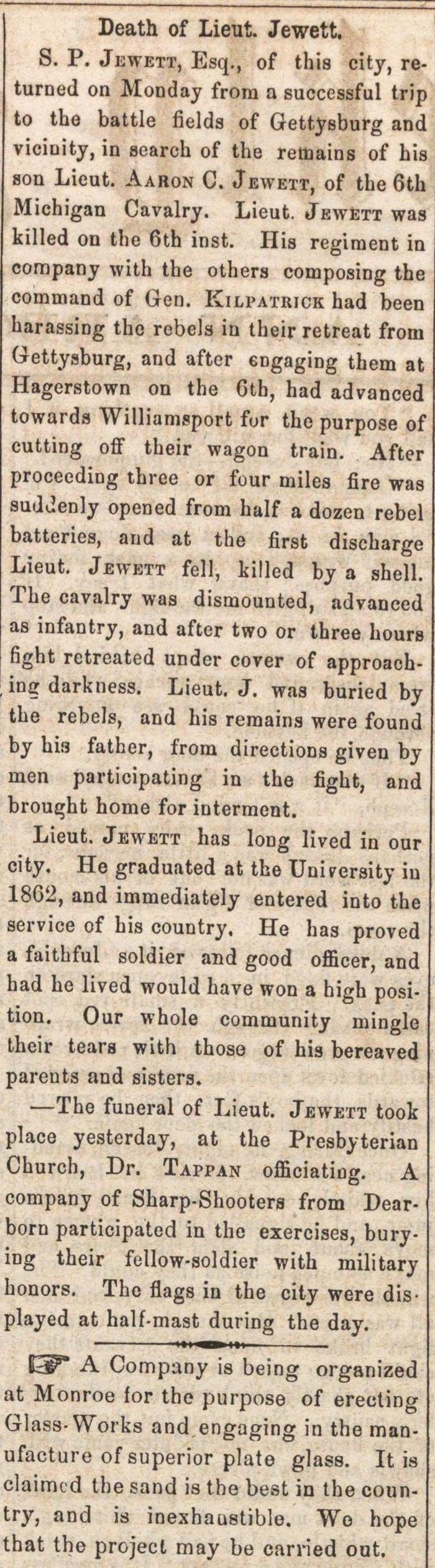 Death Of Lieut. Jewett image
