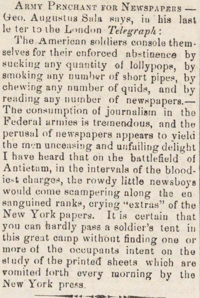 Army Penchant For Newspapers image