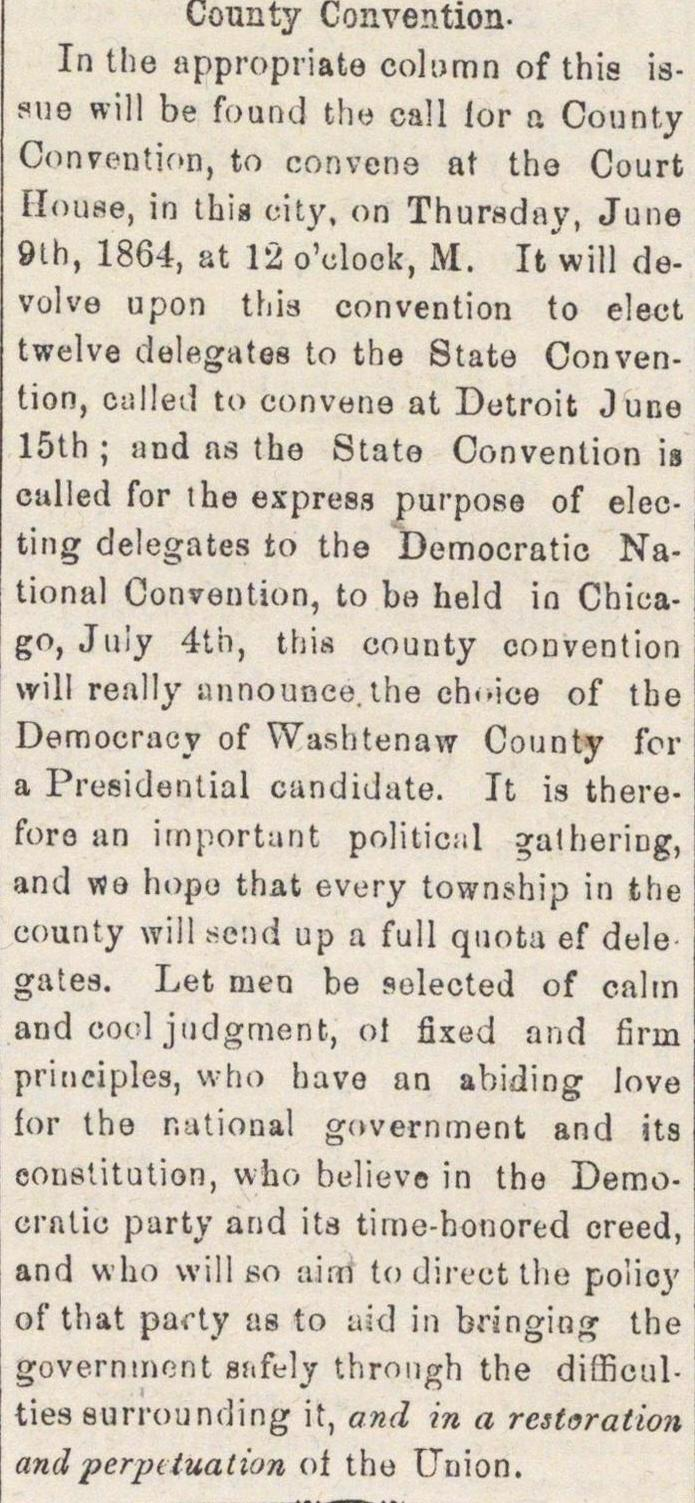 County Convention image