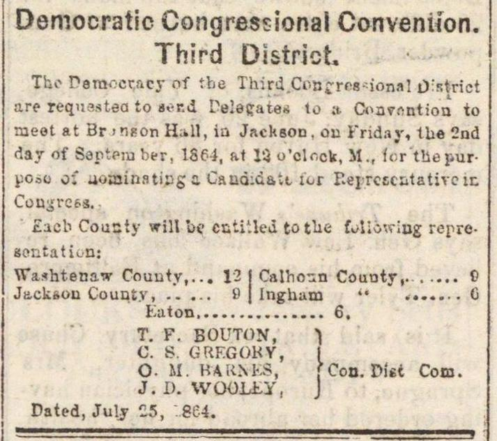 Democratic Congressional Convention. Third District image