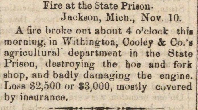 Fire At The State Prison image