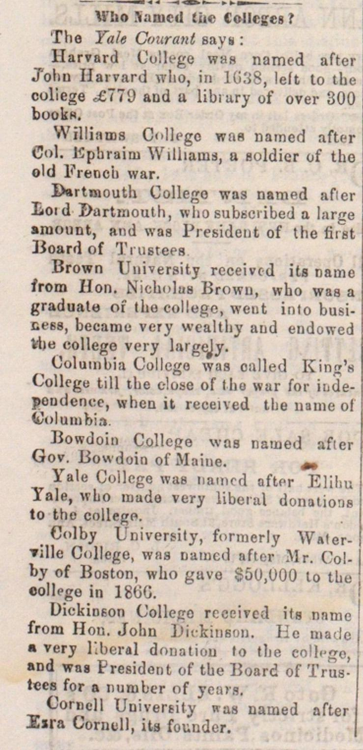 Who Named The Colleges ? image