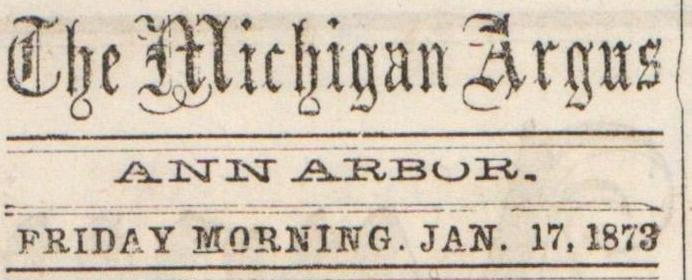 The Michigan Argus image