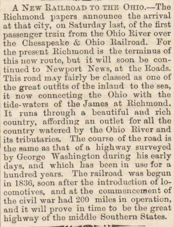 A New Railroad To The Ohio image