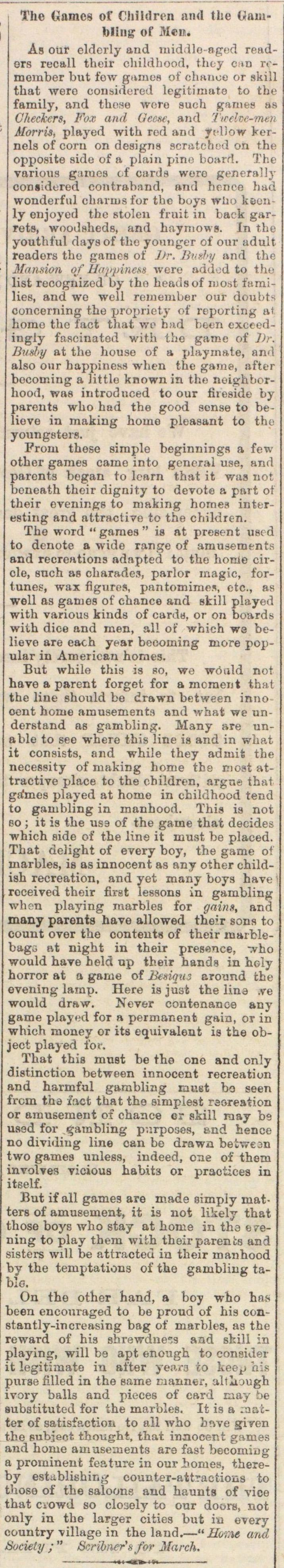 The Games Of Children And The Gambling Of Men image