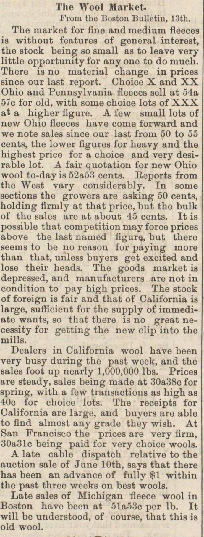 The Wool Market image