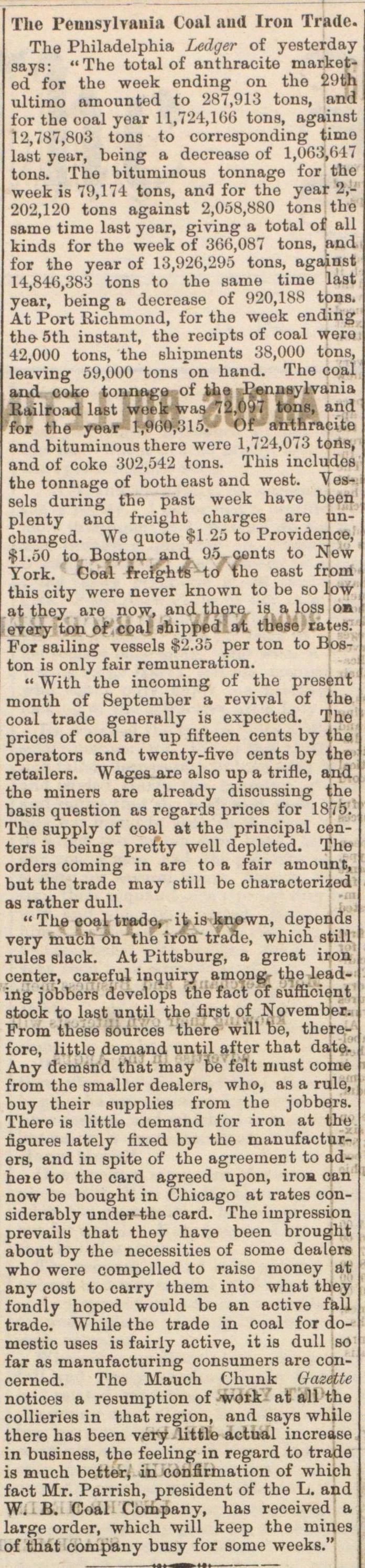 The Pennsylvania Coal And Iron Trade image