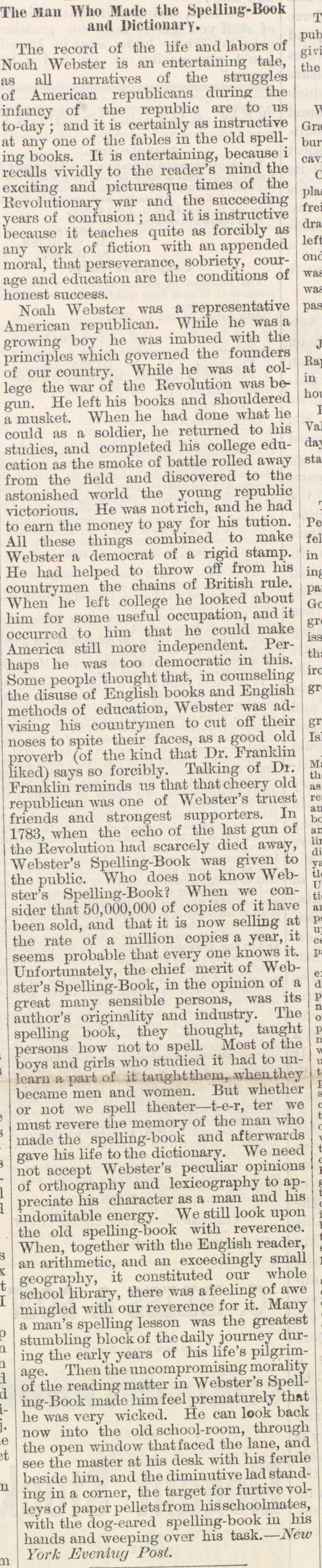 The Man Who Made The Spelling-book And Dictionary image