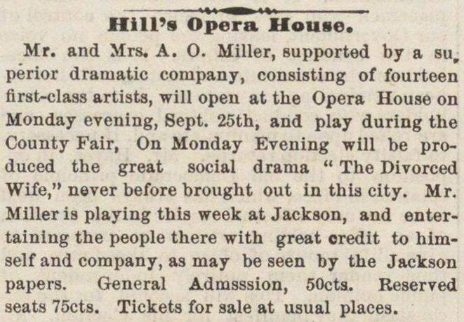 Hill's Opera House image