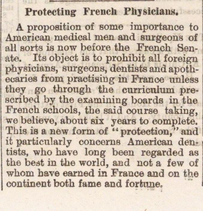 Protecting French Physicians image