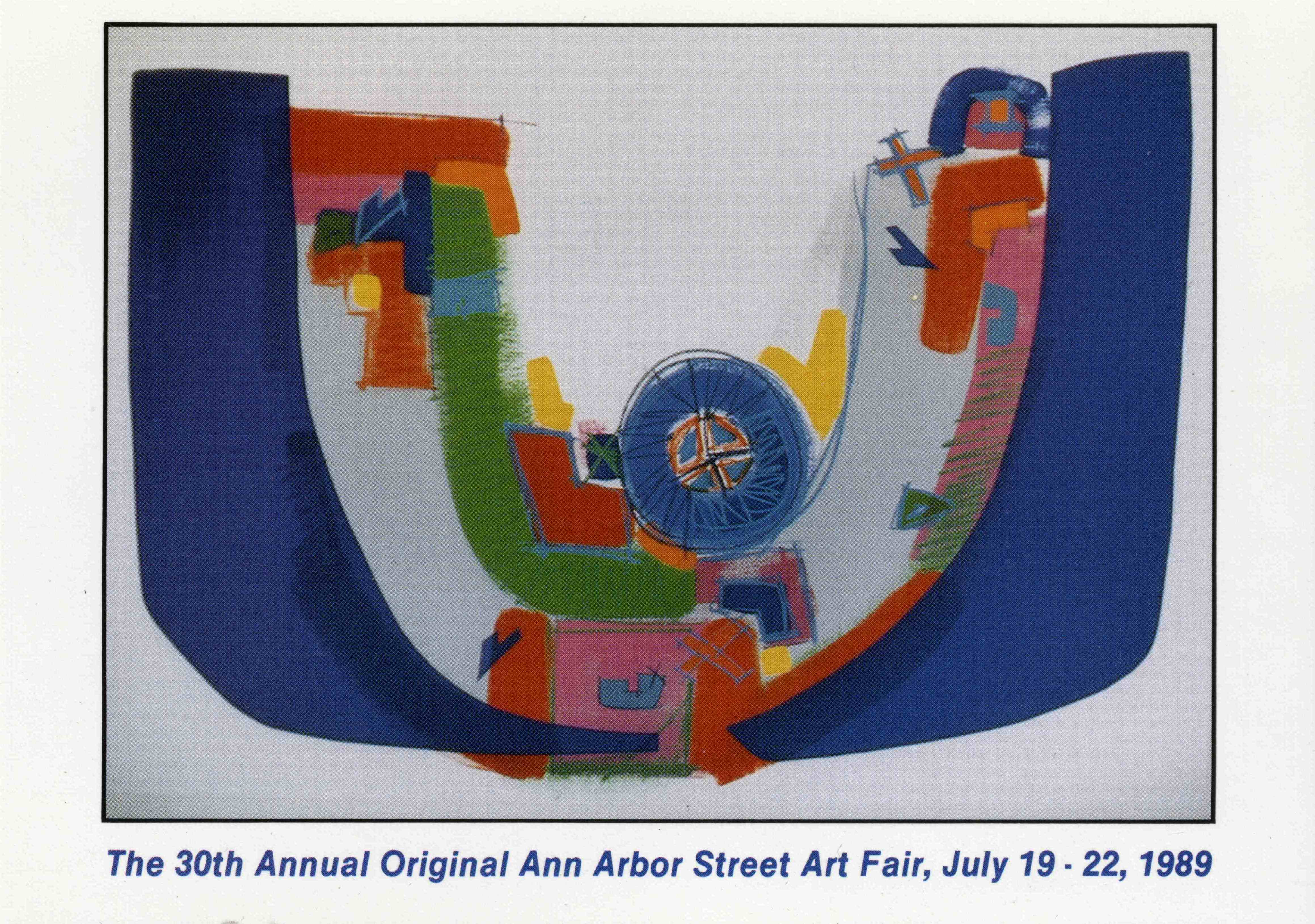 Postcard of the 30th Annual Street Art Fair, 1989 image