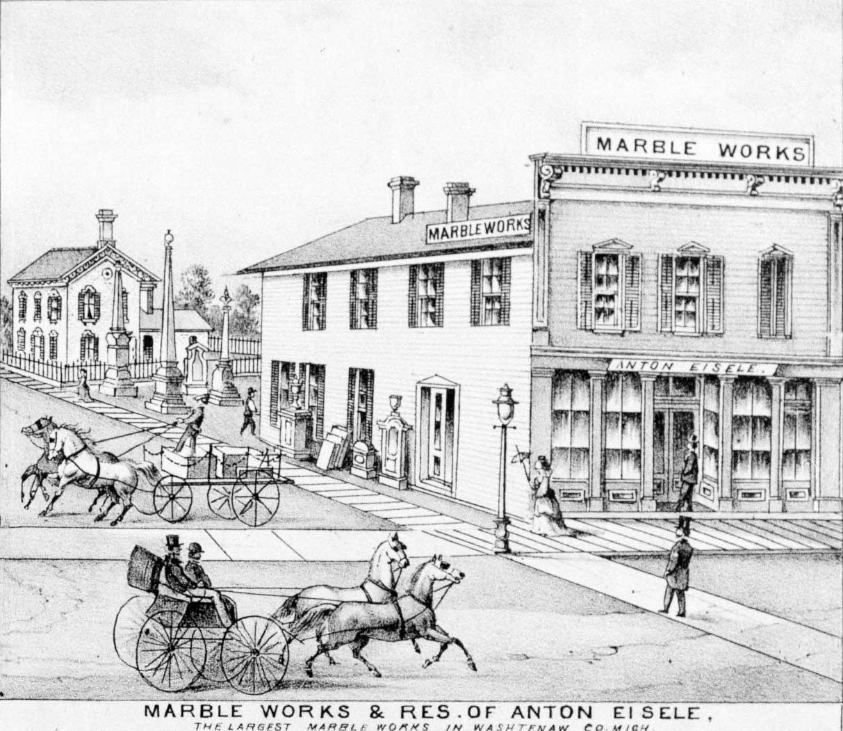 Anton Eisele House and Marble Works, 1869 image