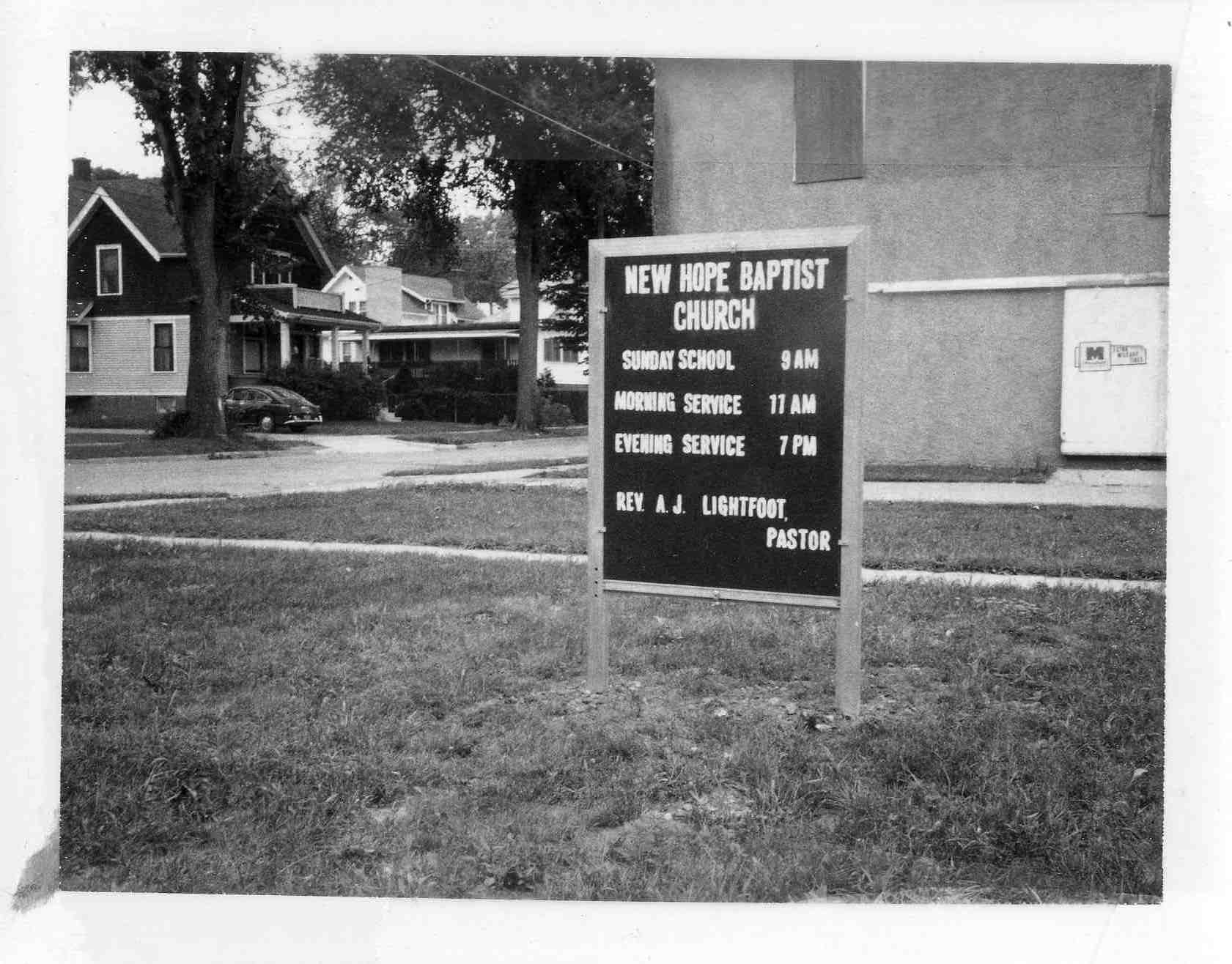 New Hope Baptist Church, 1972 image
