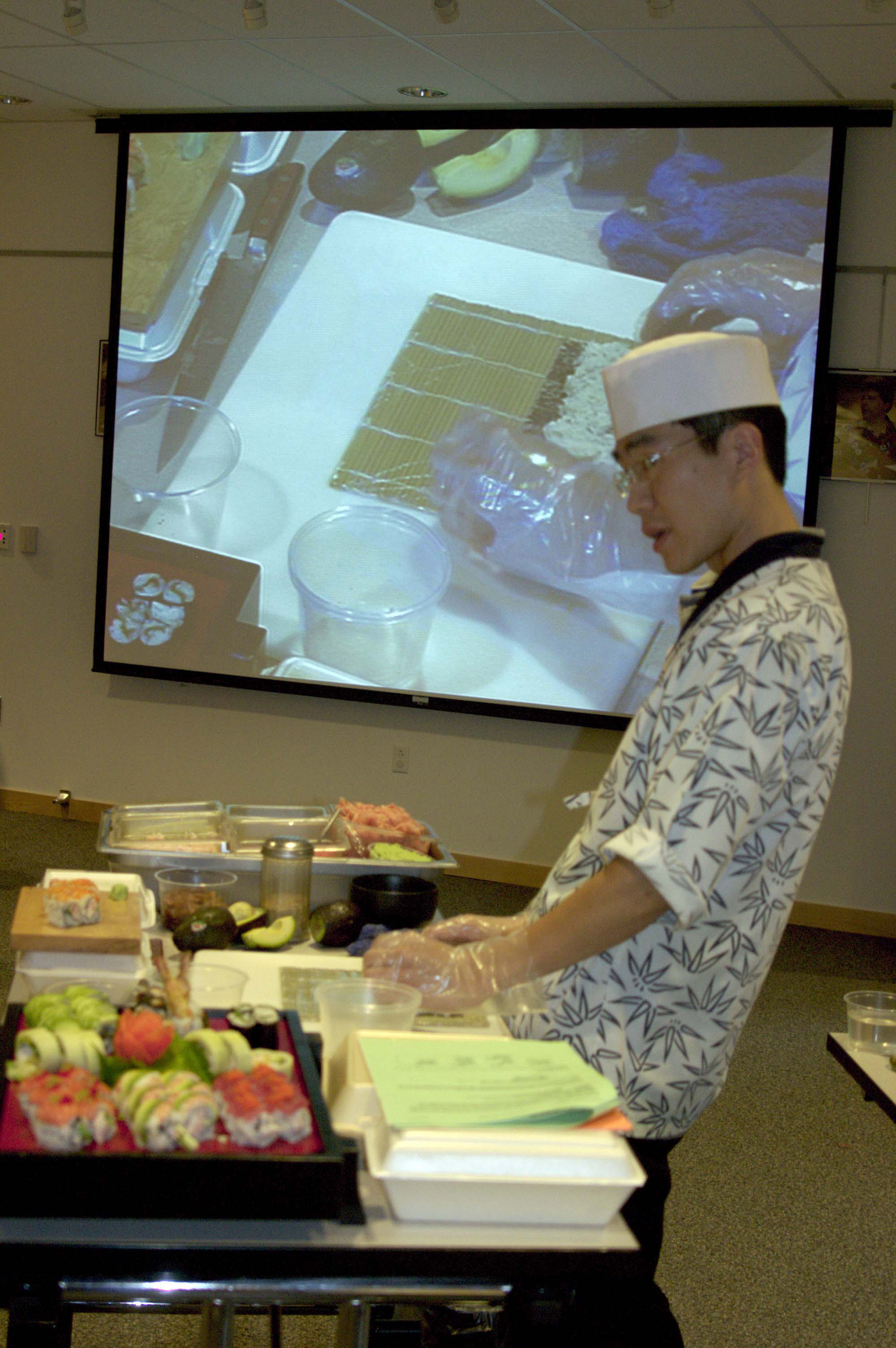 Sushi Demonstration.  August, 2005. image