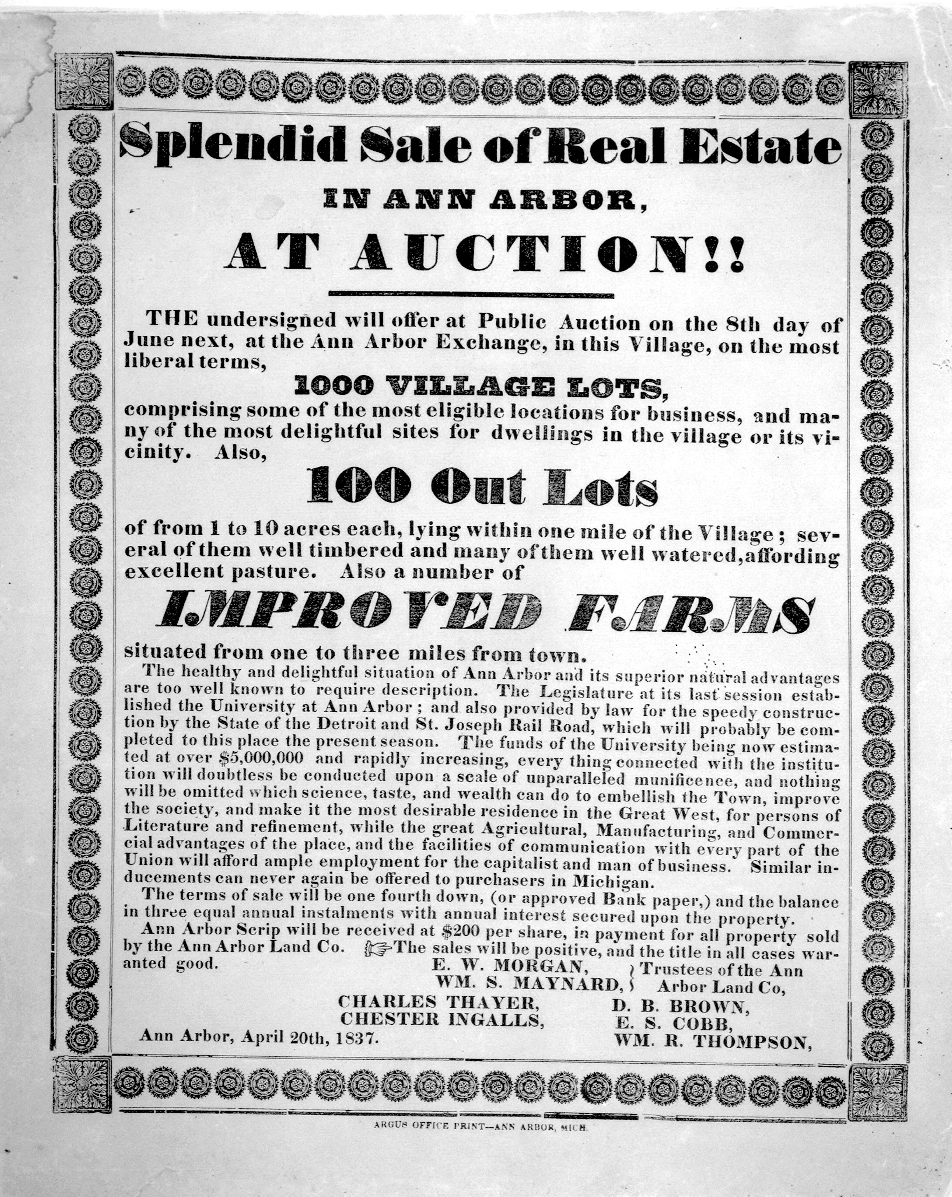 Splendid sale of real estate in Ann Arbor, at auction!! image