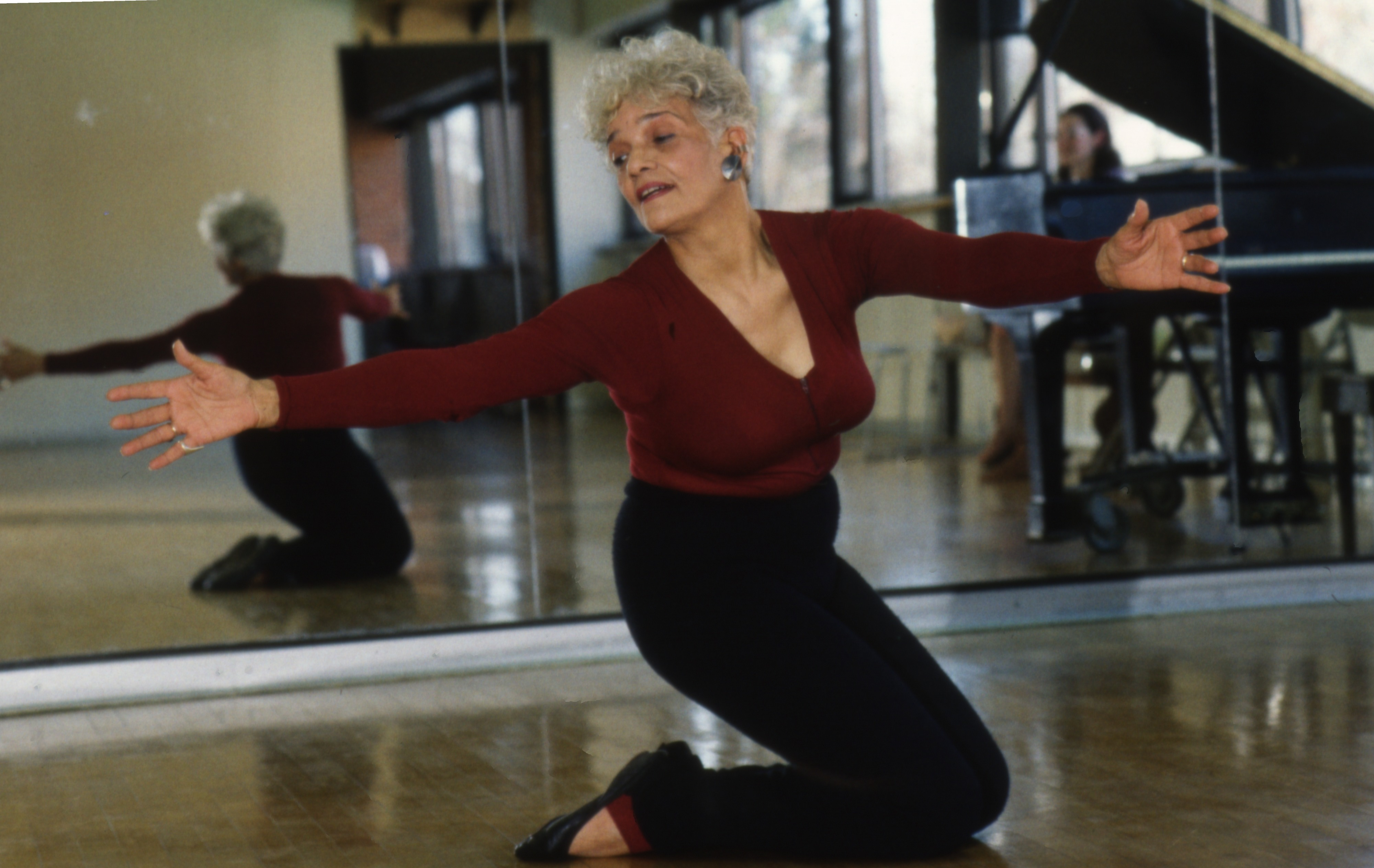 Vera Embree Practices Some Dance Moves, April 27, 1986 image