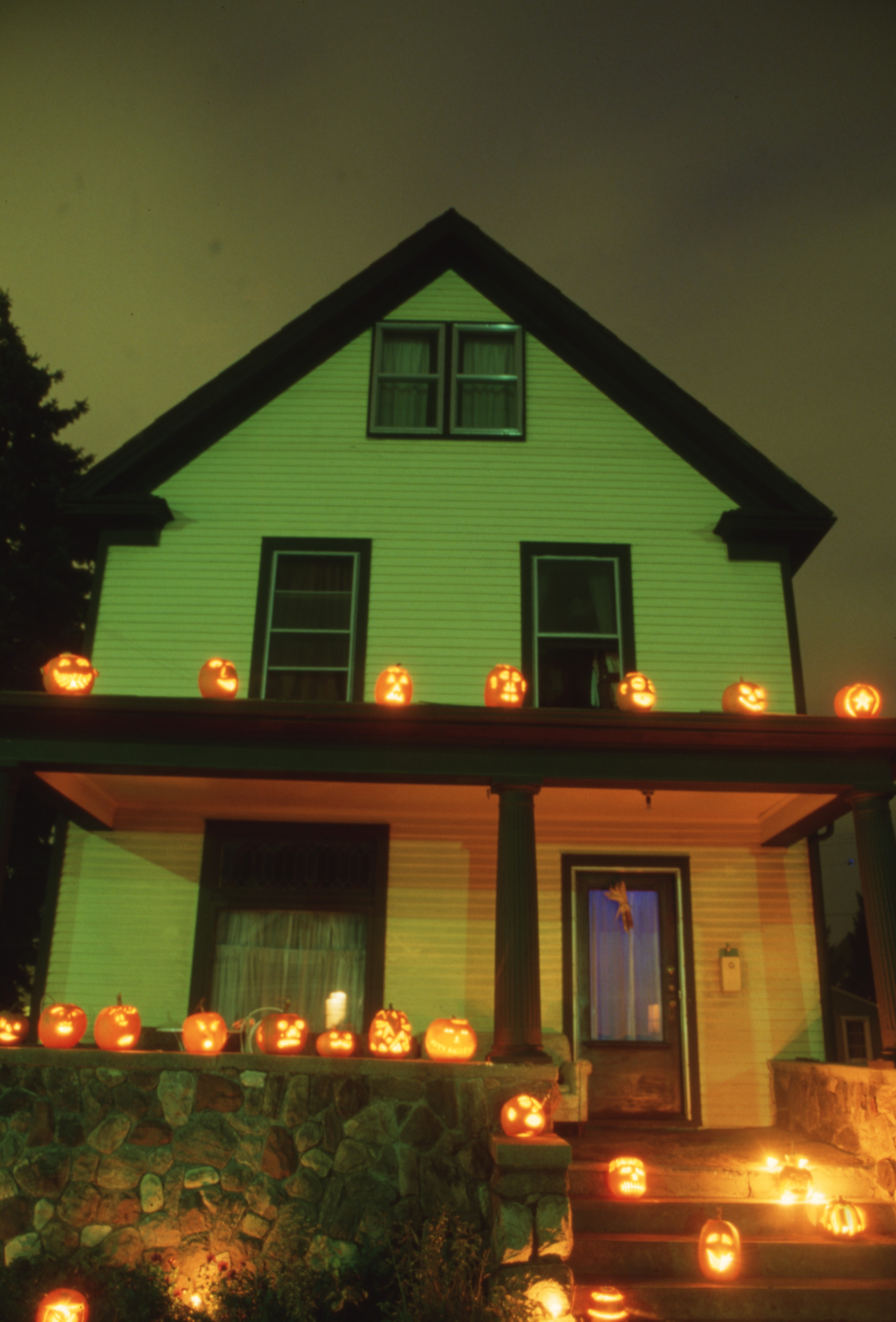 Cyndi Solski's Home Decorated With Halloween Pumpkins - 827 W. Huron Street, October 1986 image