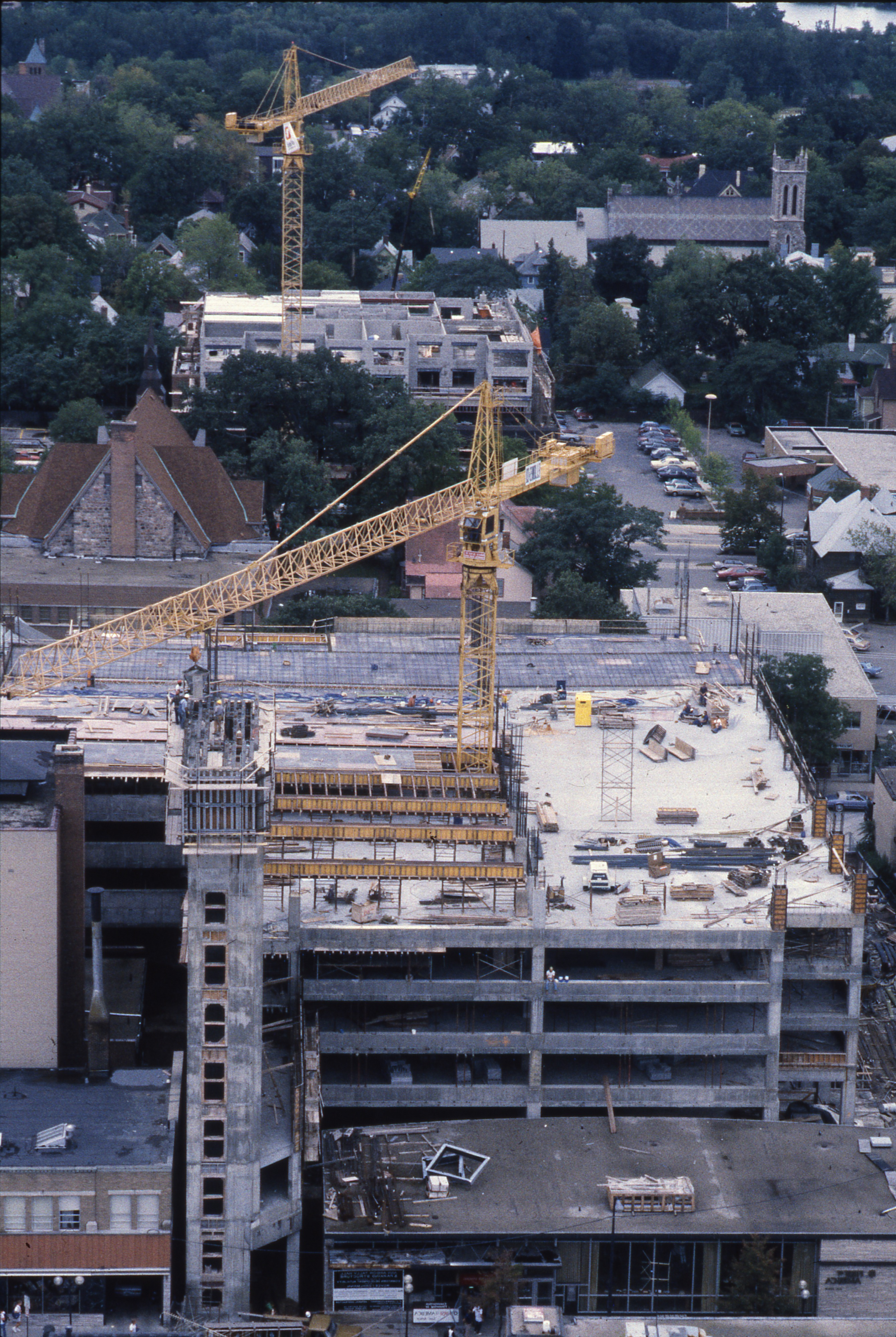 Construction Of Tally Hall As Seen From Above, September 11, 1985 image
