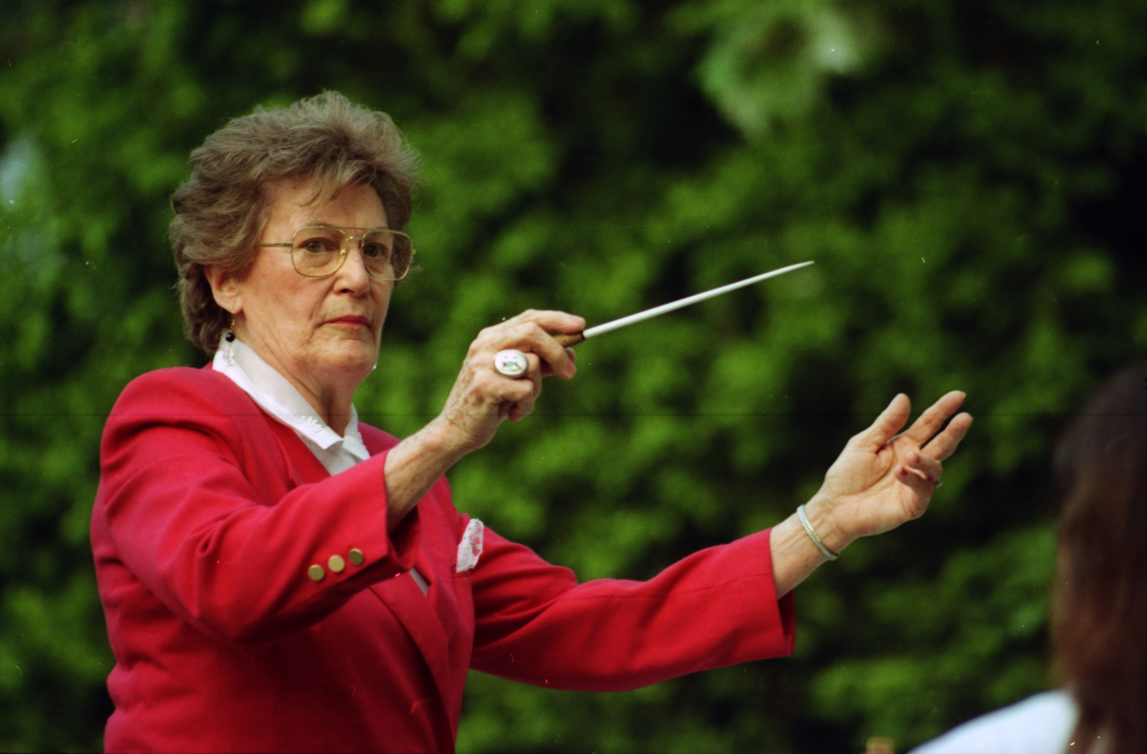 Former Marine Band Leader Charlotte Owen, July 1992 image