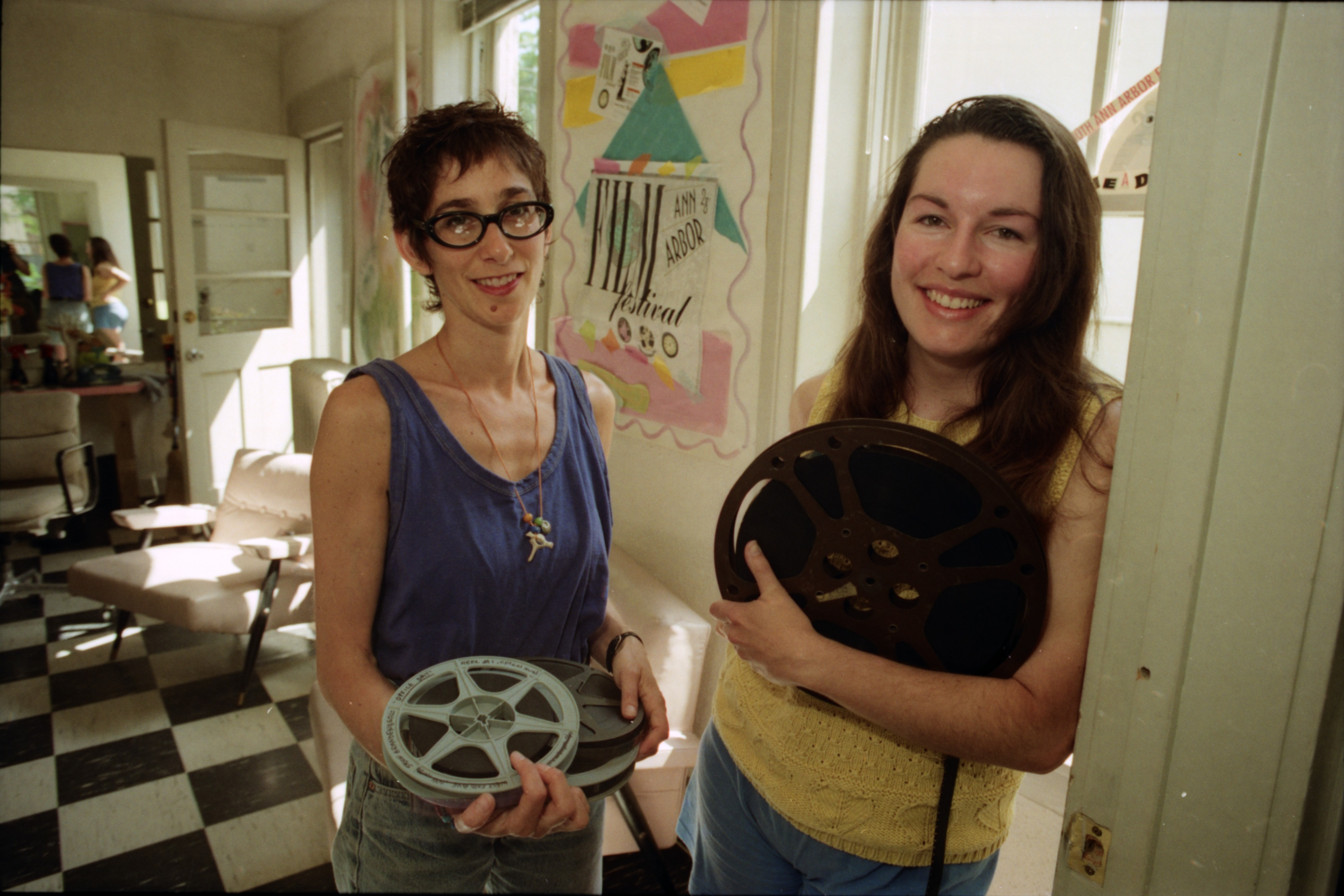 Vicki Honeyman and Elizabeth Cox, Directors of the Ann Arbor Film Festival, July 1992 image