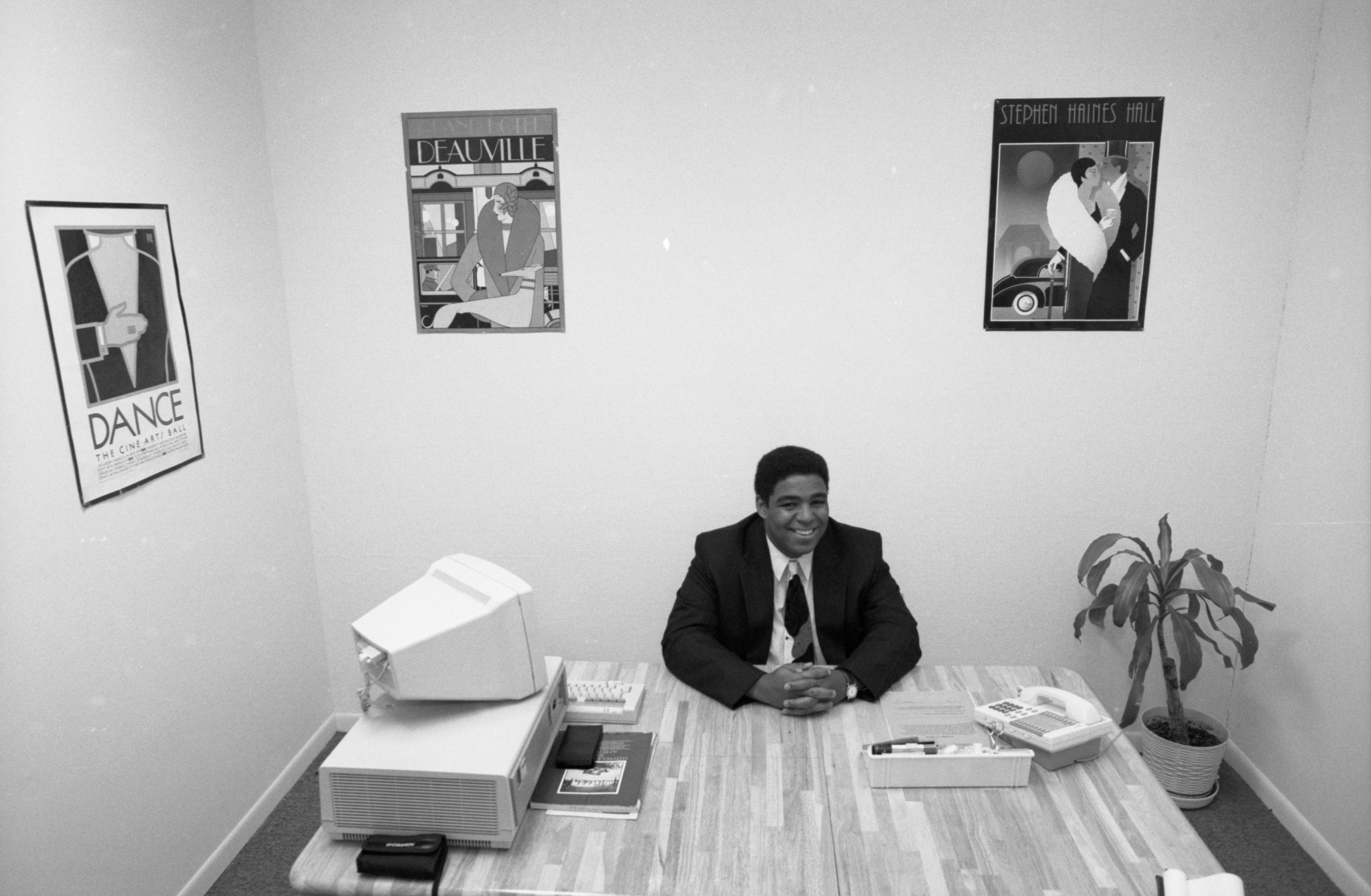 Aaron P Dworkin, Jumpstart Founder, At His Desk, August 16, 1992 image
