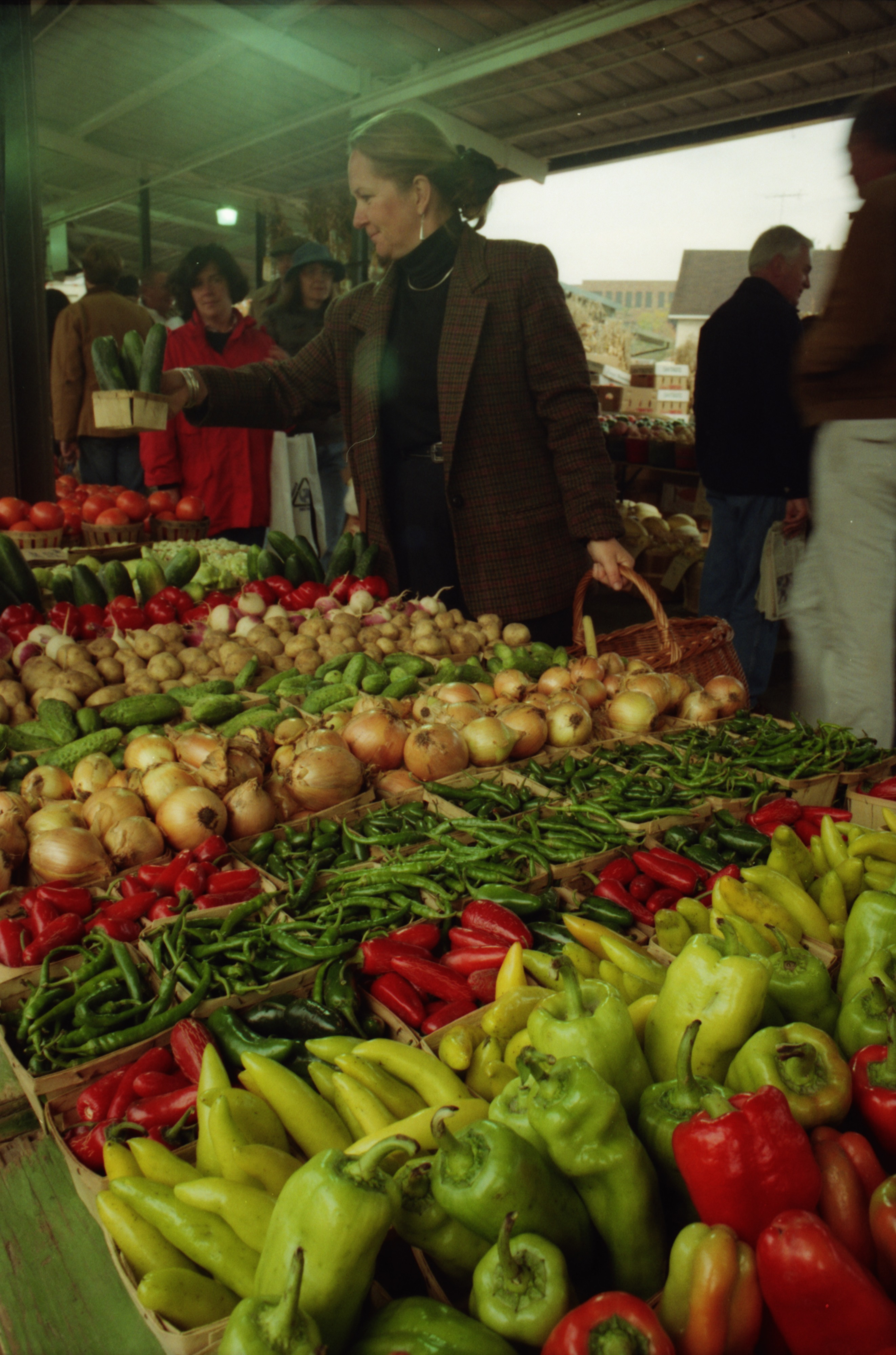 Fresh Produce At The Ann Arbor Farmers Market, October 1992 image