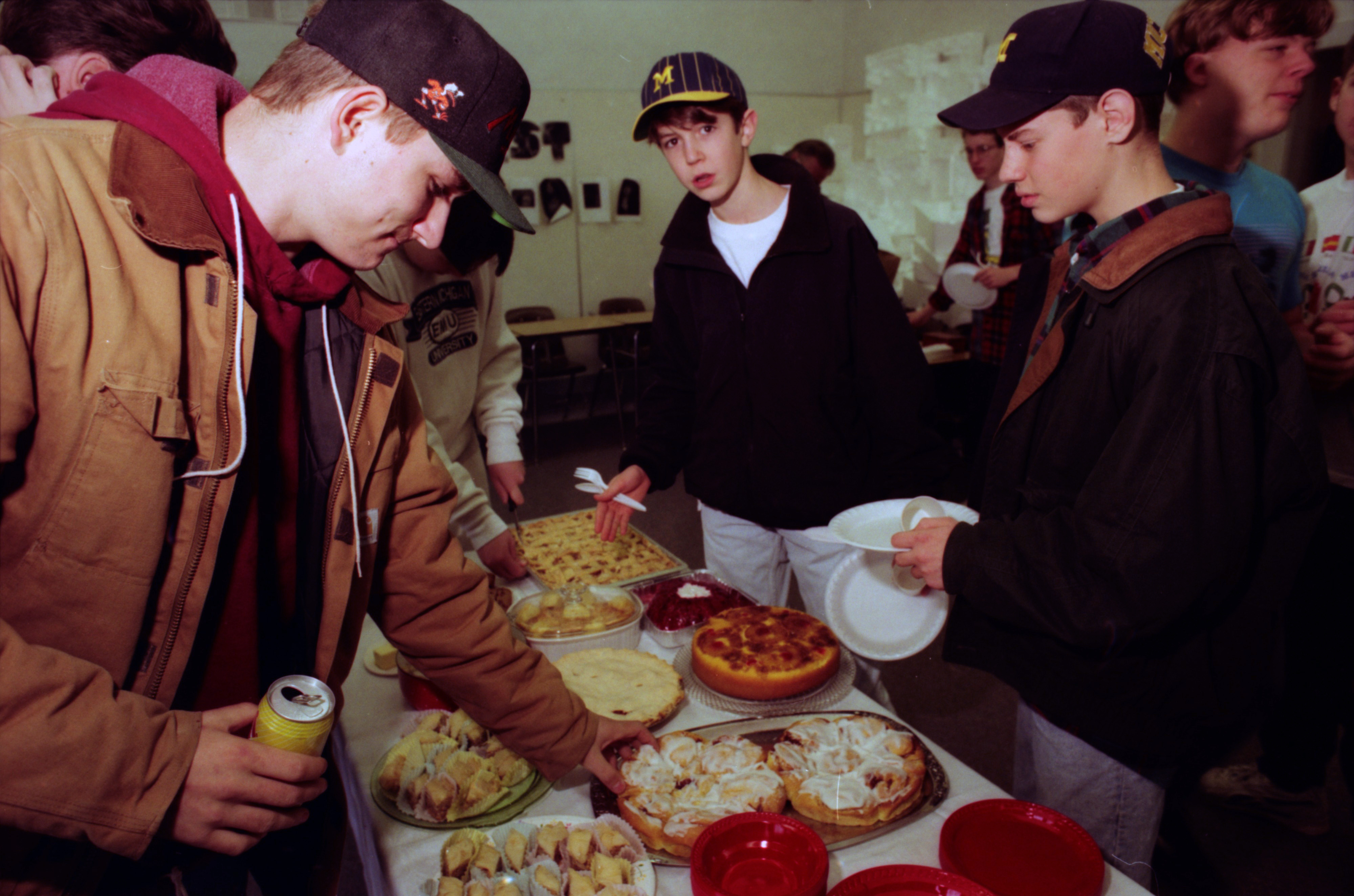Students Enjoy Food at Community High School's Multi-Ethnic Festival, November 1992 image