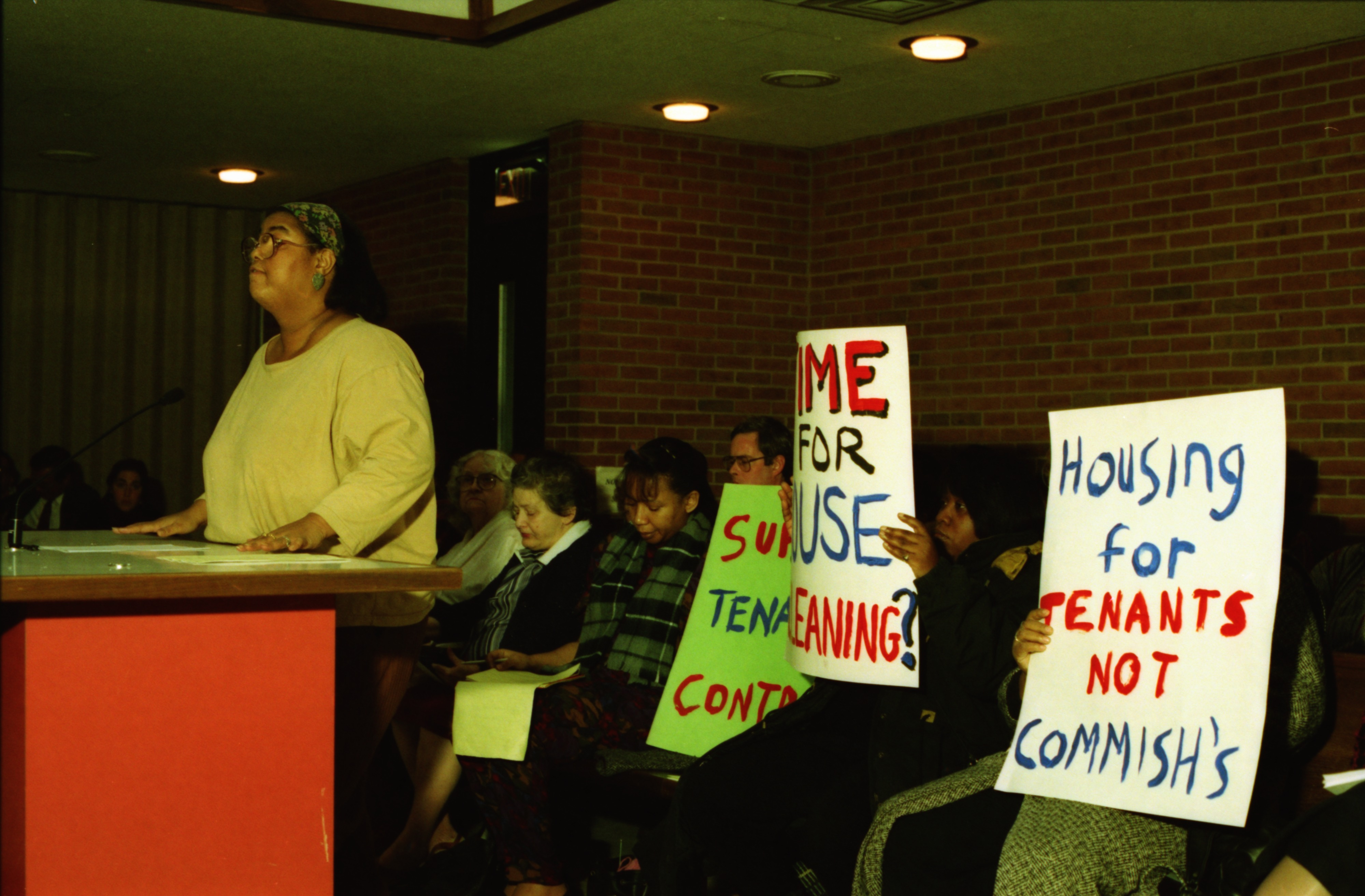 Housing Protest at Ann Arbor City Council Meeting, December 1992 image