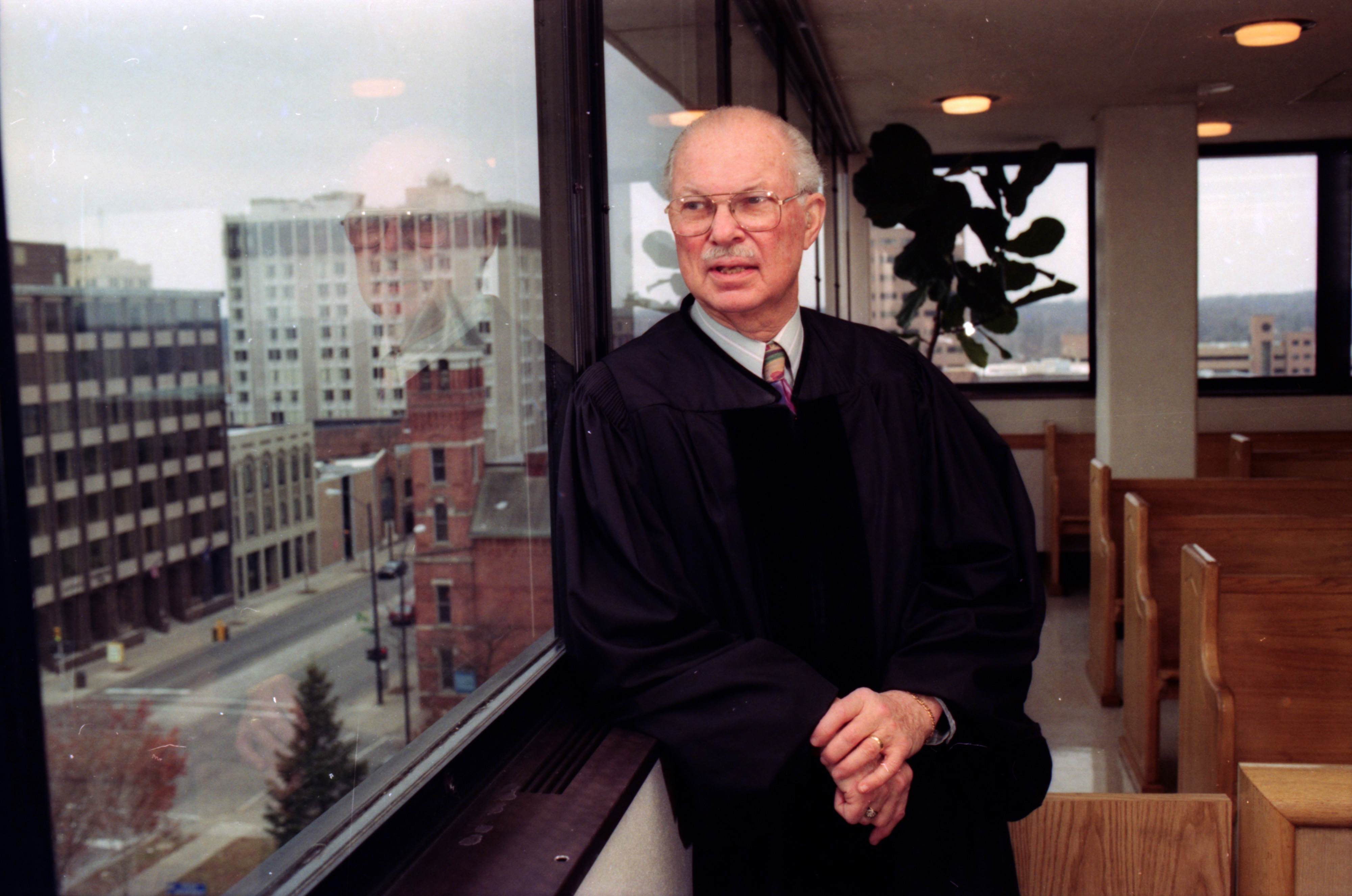 Judge S. J. Elden in Ann Arbor City Hall Courtroom, December 1992 image