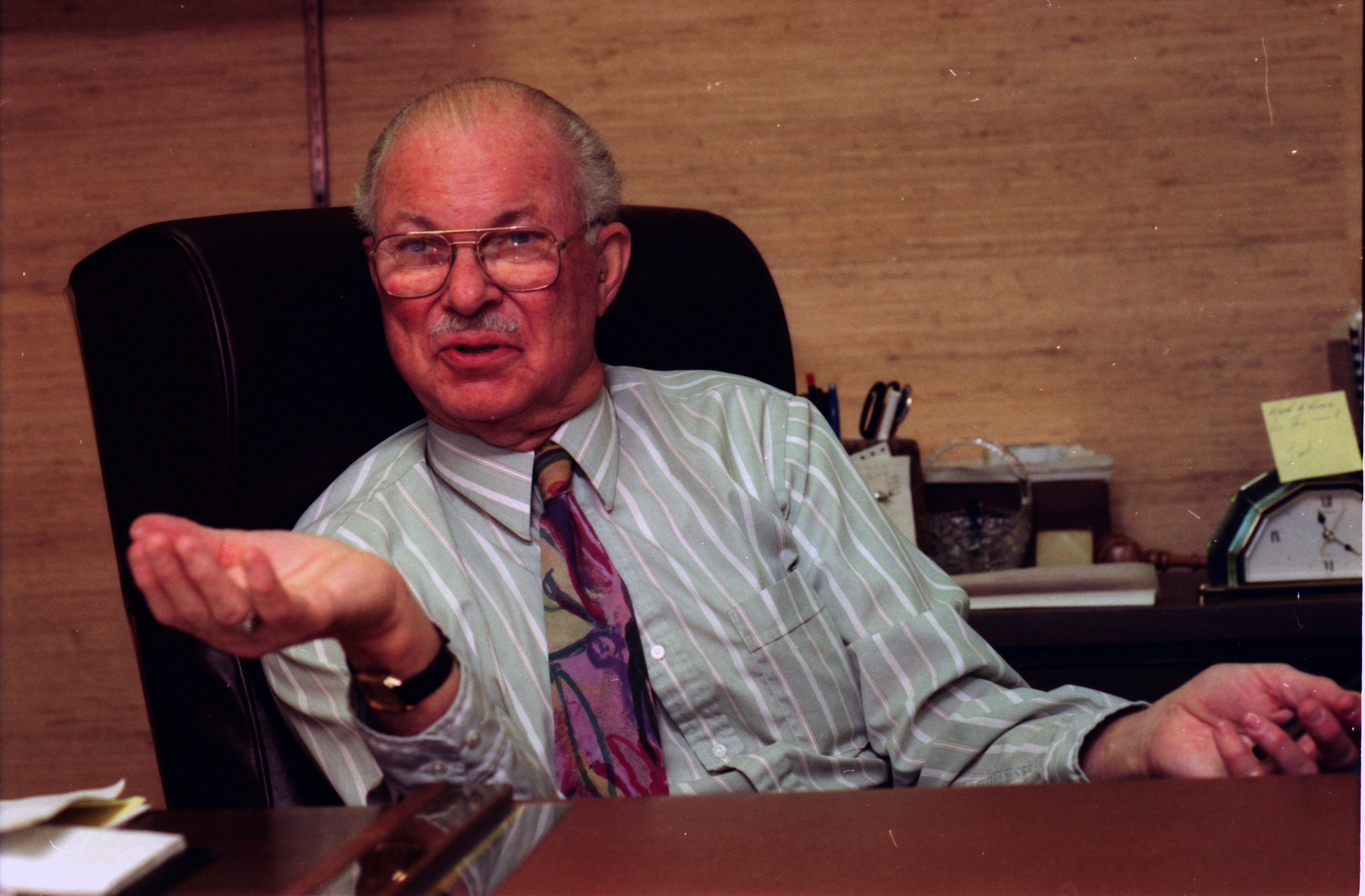 Judge S. J. Elden at His Desk, December 1992 image