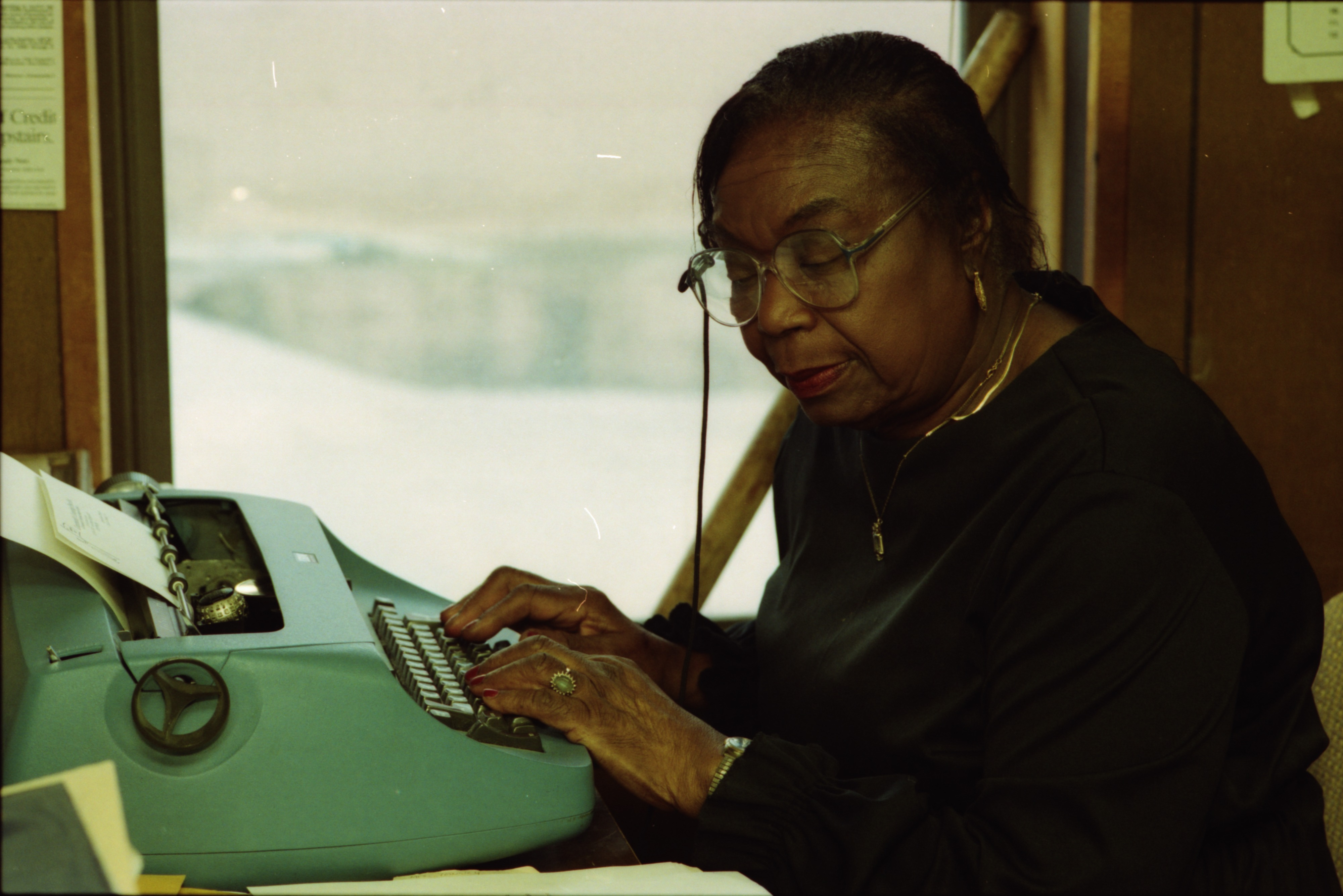 Lucille Hall Porter at the Community Leaning Post, March 1, 1993 image