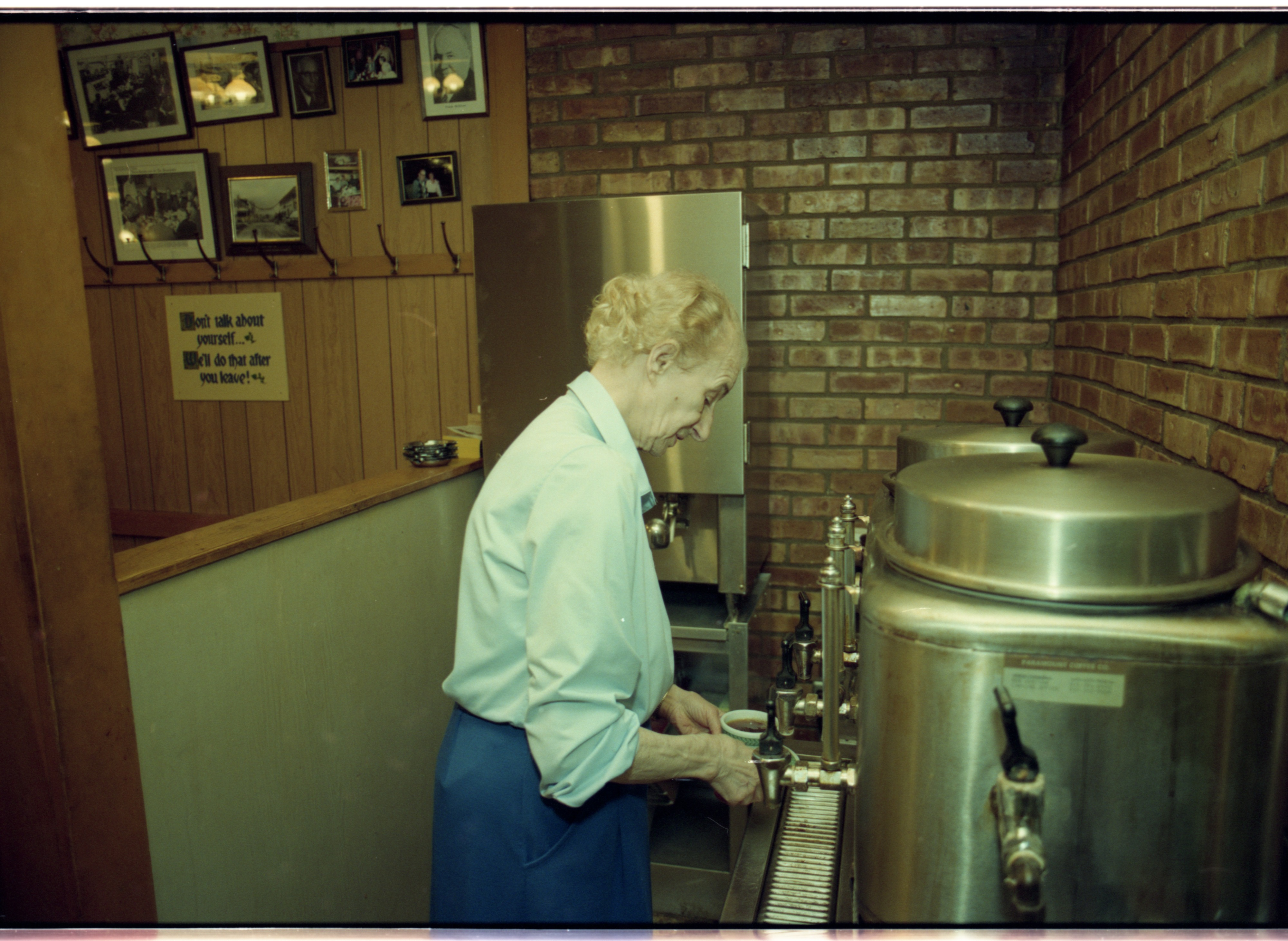 Well-Used Coffee Urn at the Roundtable Restaurant, May 1993 image