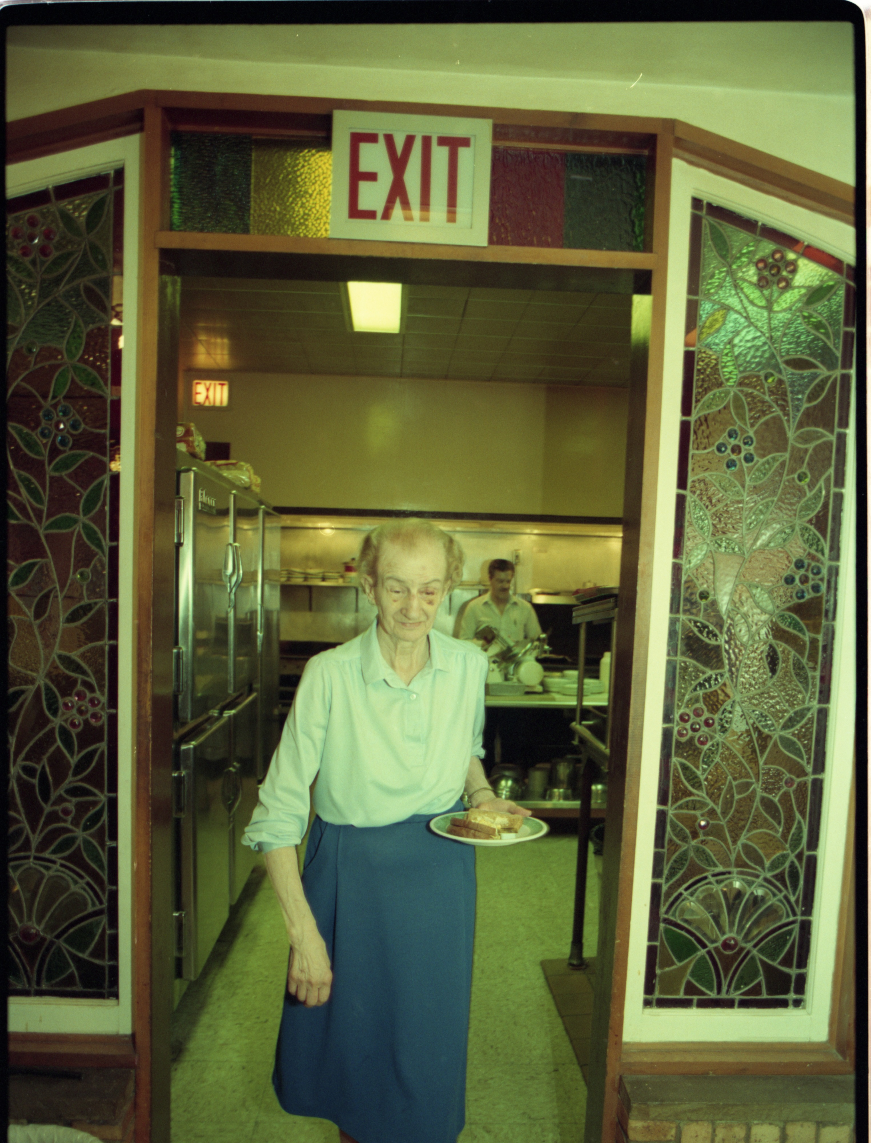 Roundtable Restaurant Owner Evelyn Stack In The Kitchen, May 1993 image