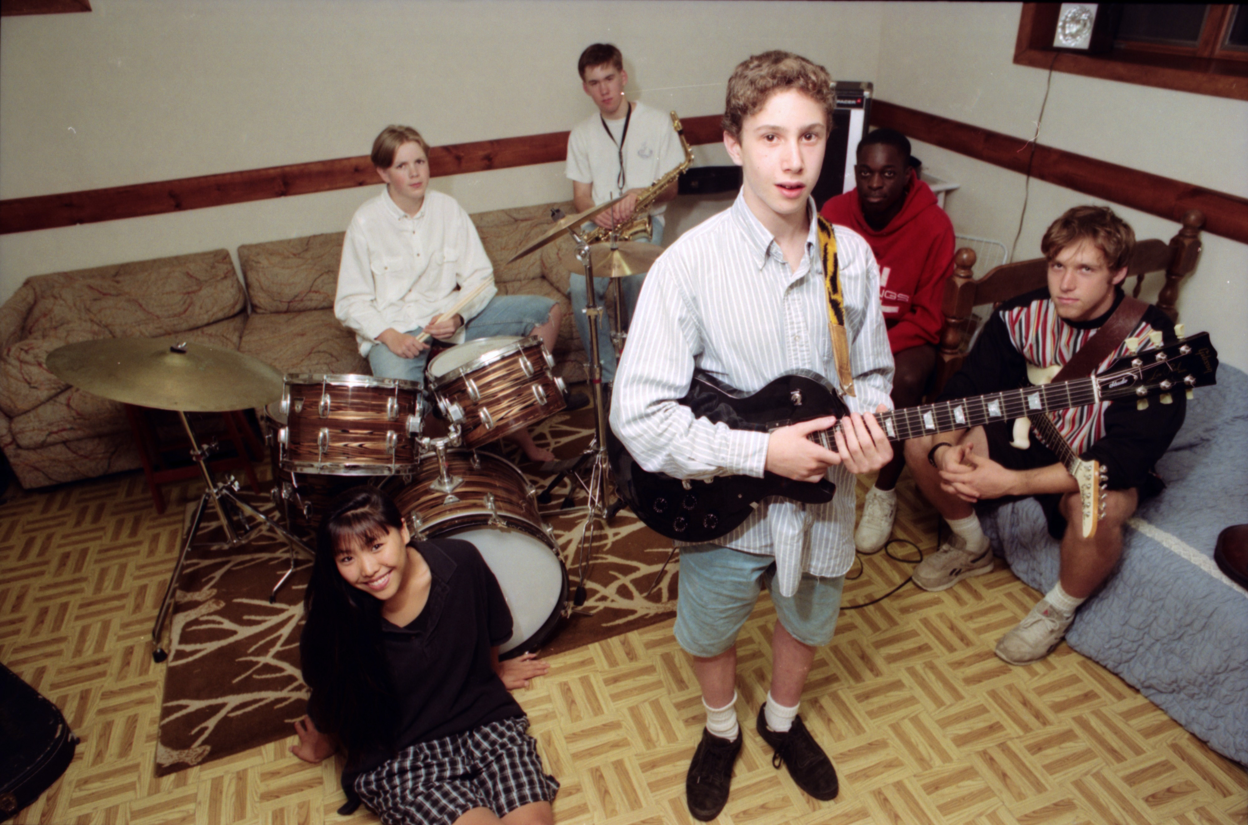 Randy Napoleon and jazz band friends, August 1993 image