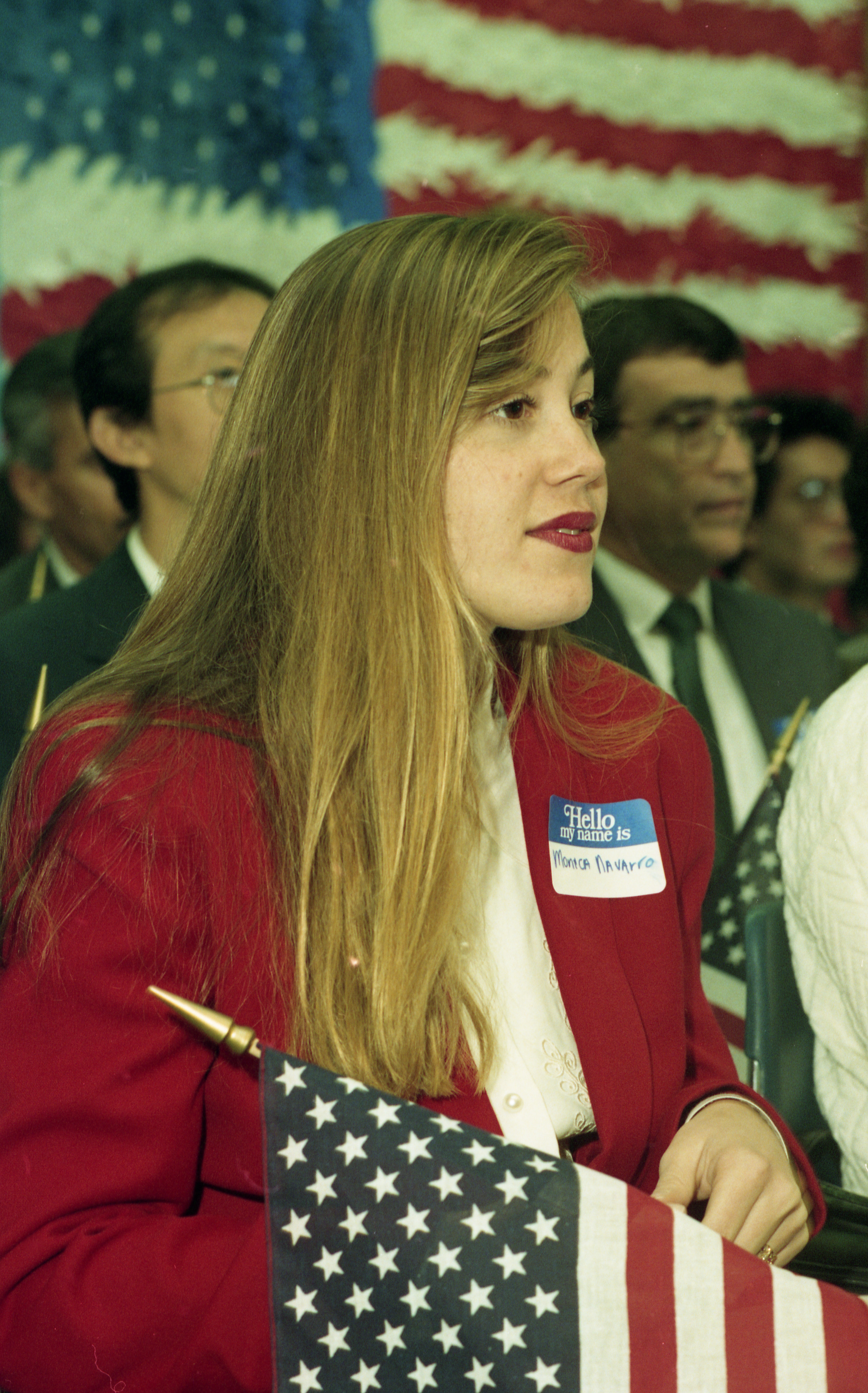 Monica Navarro Becomes U.S. Citizen In Ceremony At Houghton Elementary School In Saline, October 1993 image