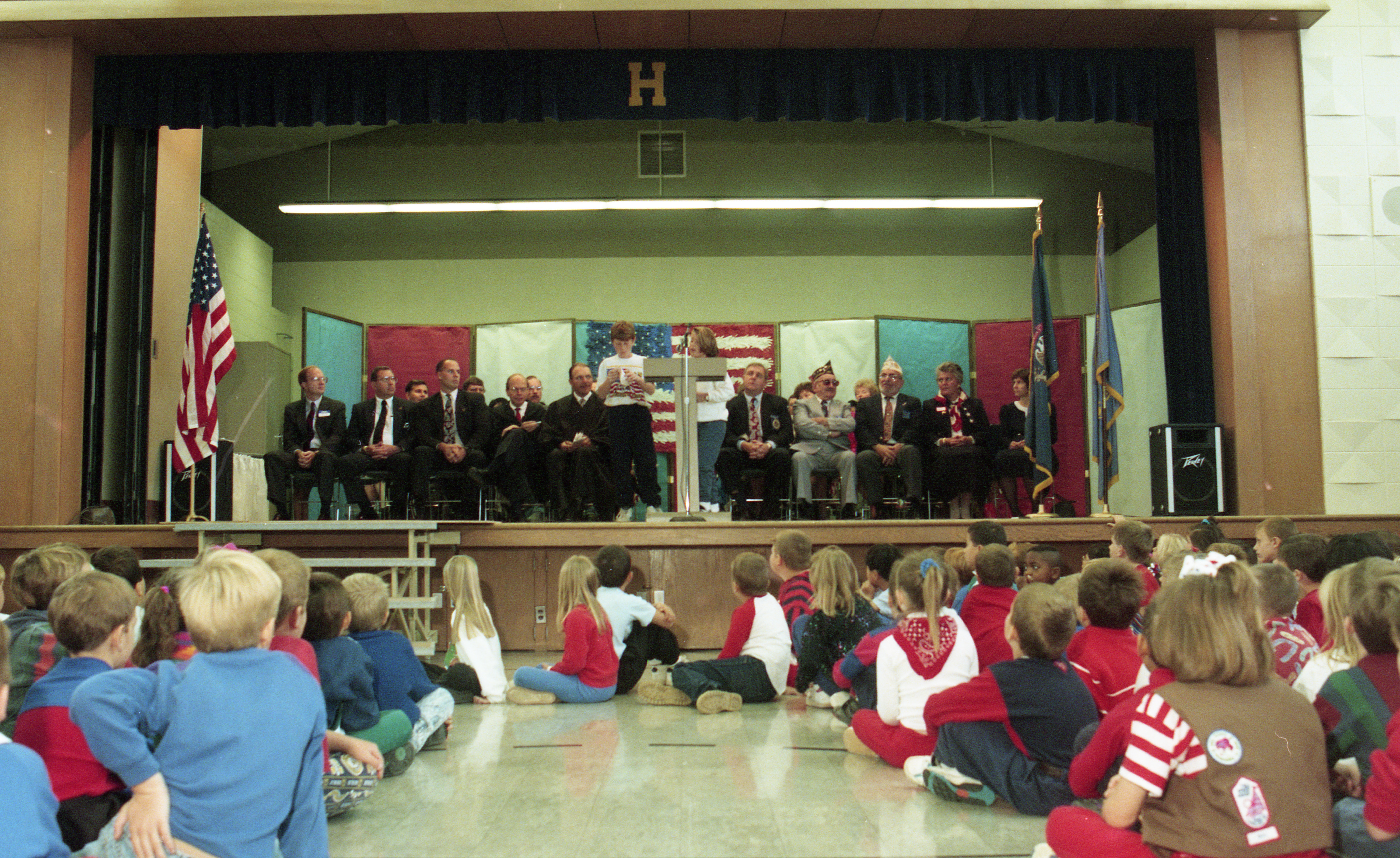 Saline Houghton Elementary School Students Watch Citizenship Ceremony, October 1993 image