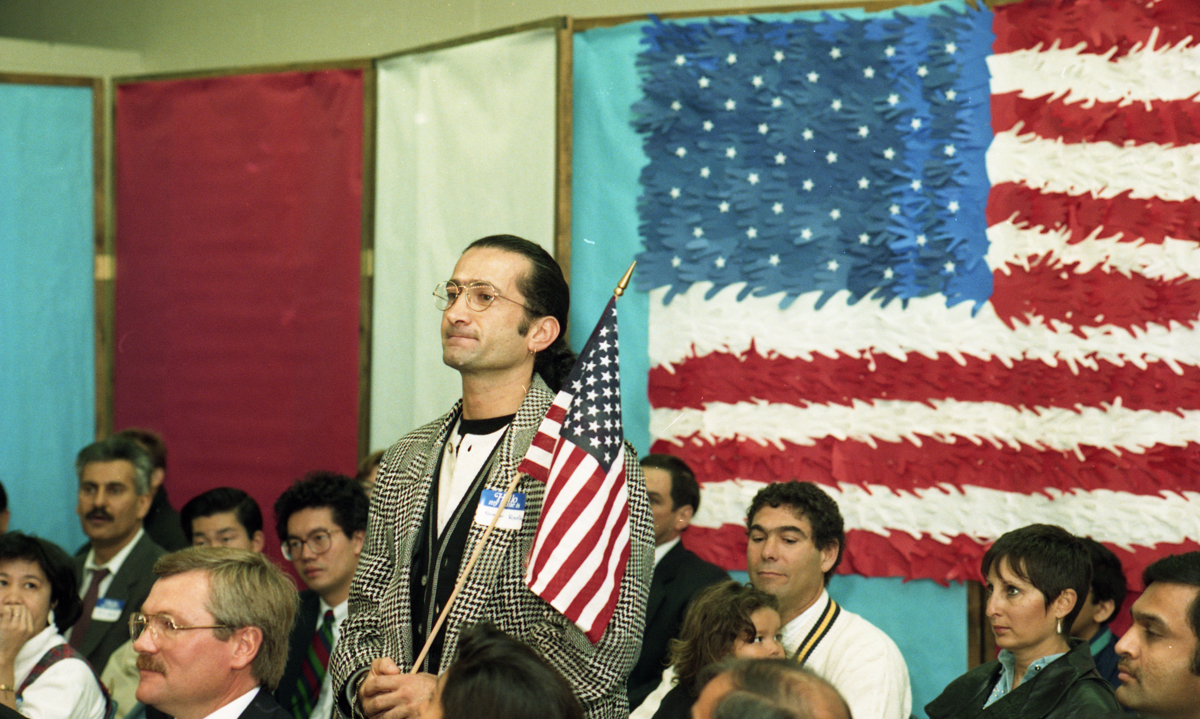 Ready To Become a U.S. Citizen at Citizenship Ceremony at Saline Houghton Elementary School, October 1993 image
