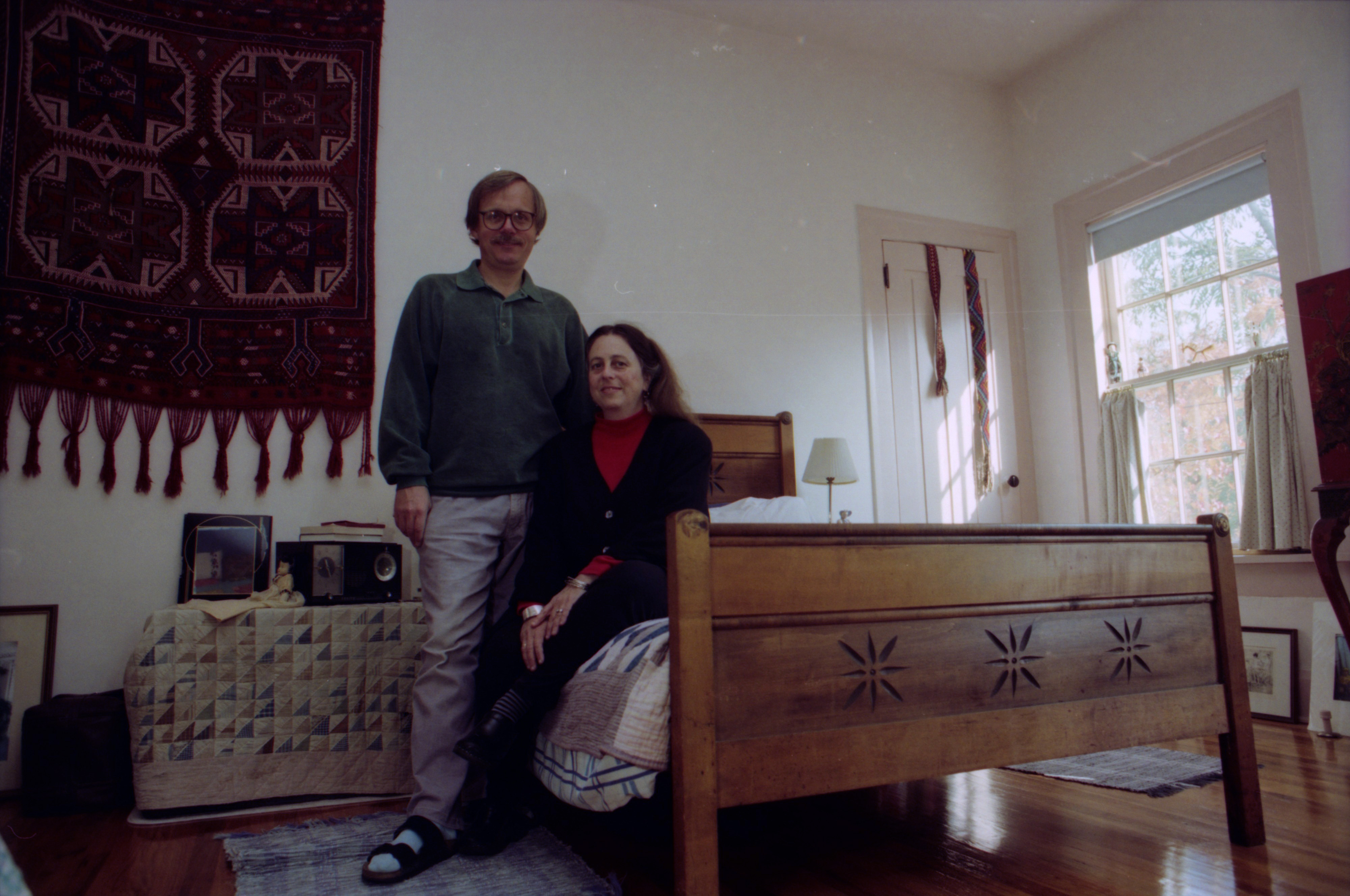 Susan Wineberg and Lars Bjorn in their historic home at 712 E. Ann St., October 1993 image