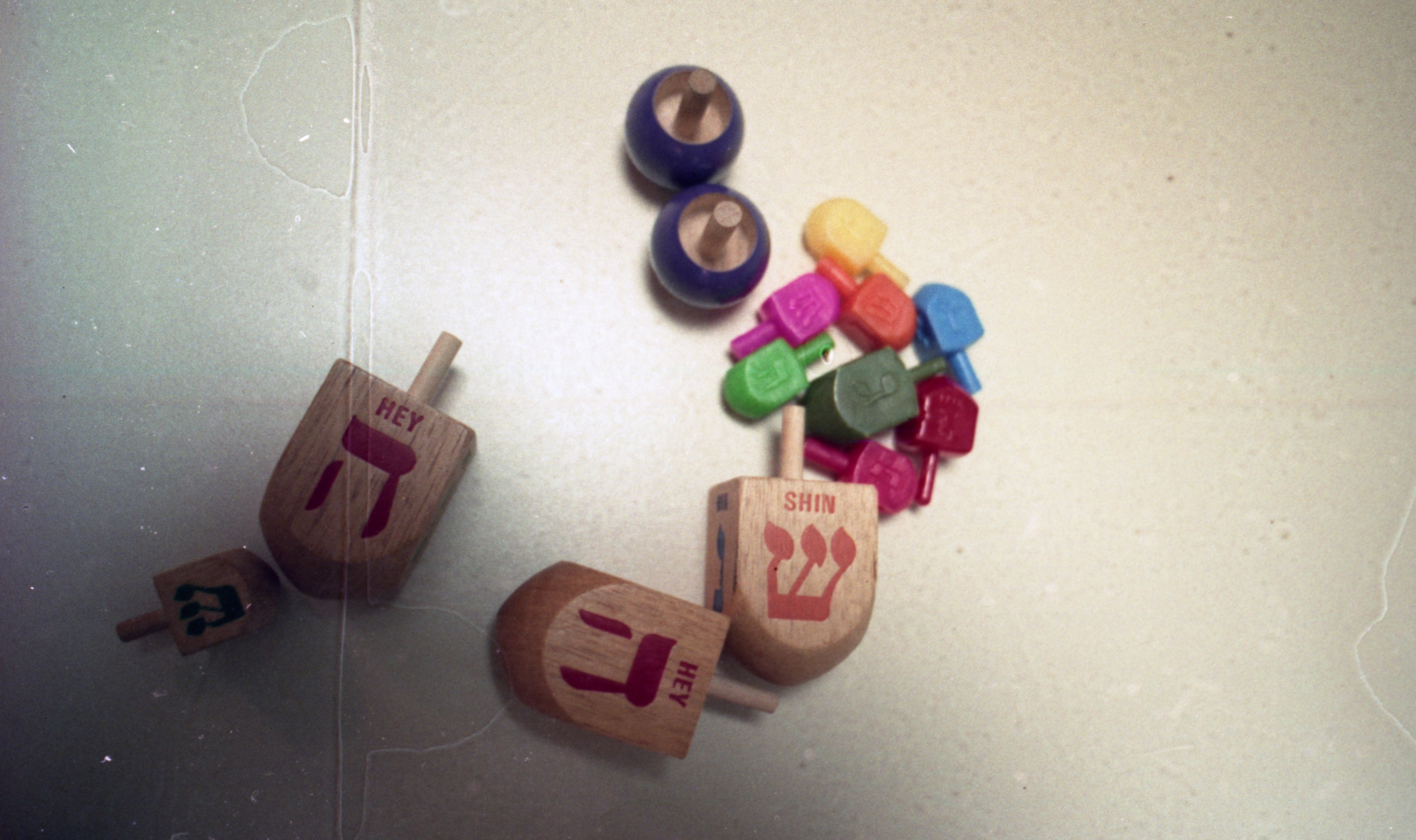 Dreidel Game Pieces For Hanukkah, December 1993 image