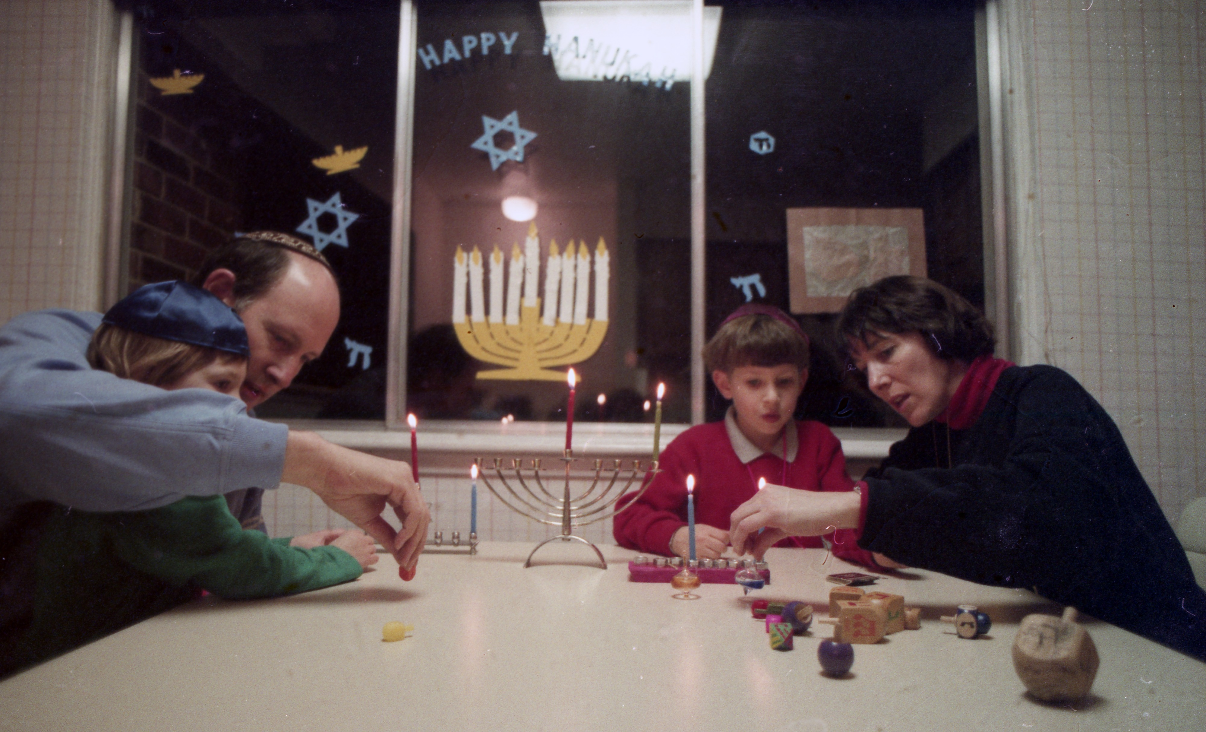 The Weiner Family Observes The Start Of Hanukkah, December 1993 image