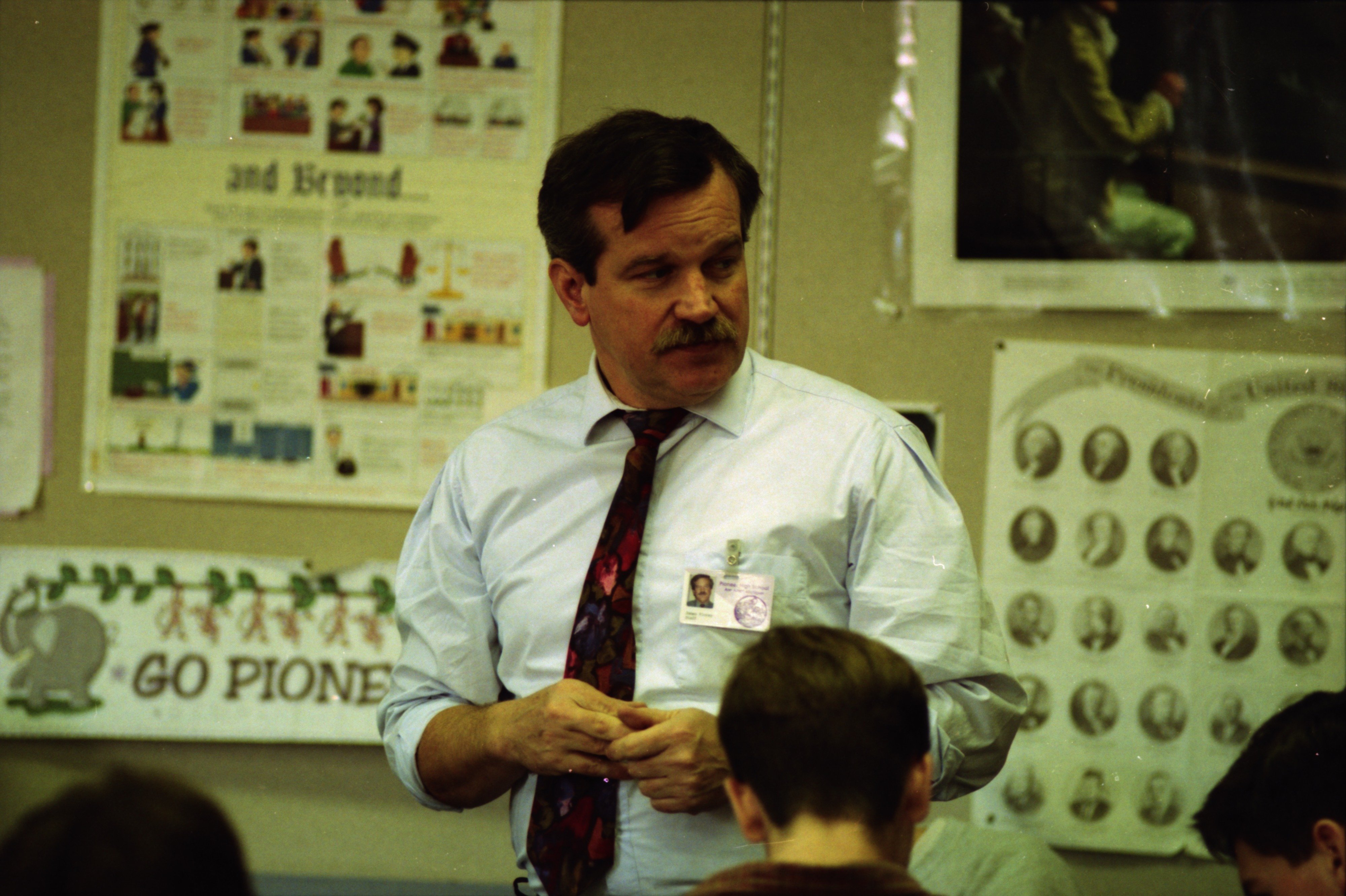 Pioneer High School Teacher and Attorney Jim Florey, February 1994 image