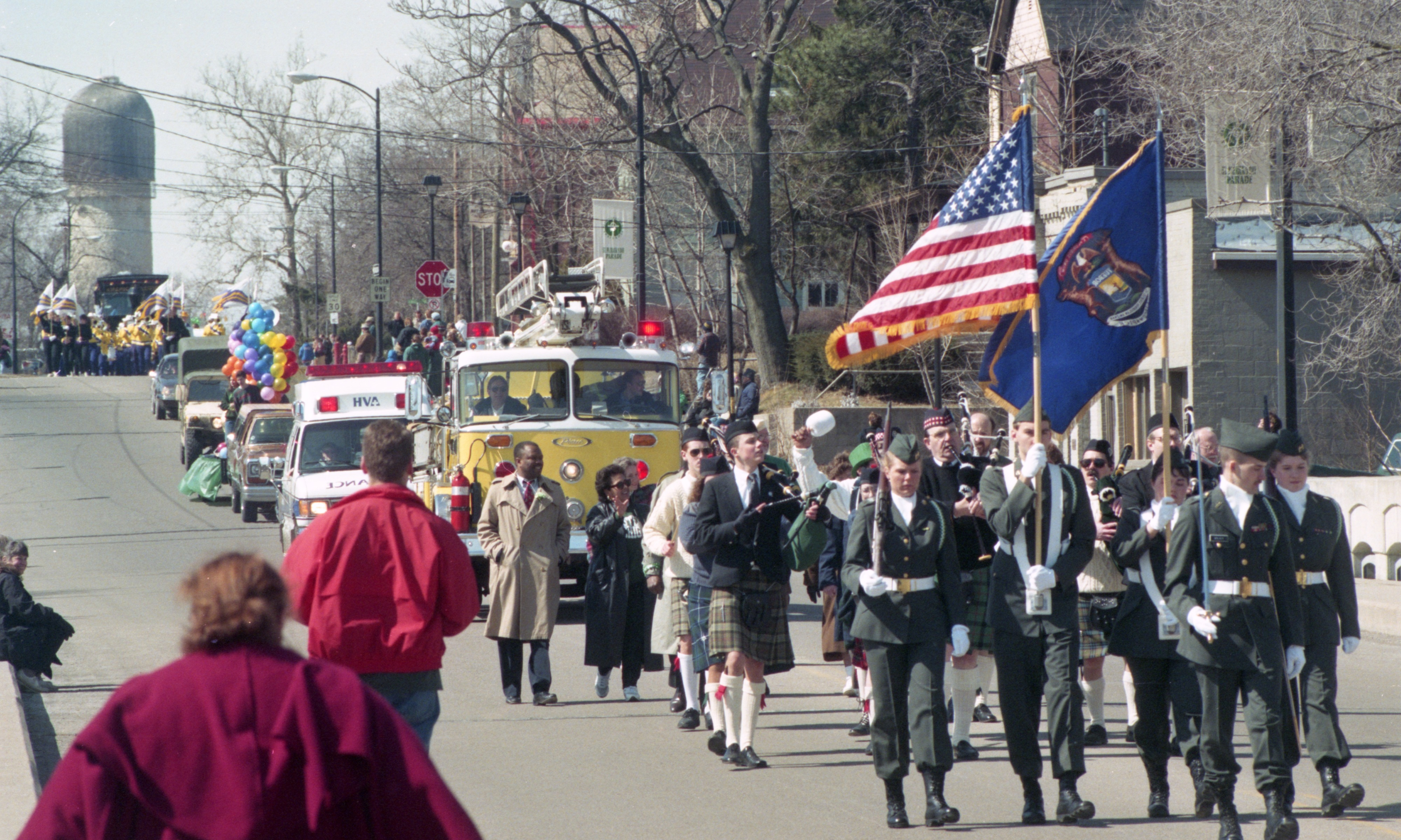 The Ypsilanti St. Patrick's Day Parade, March 1994 image