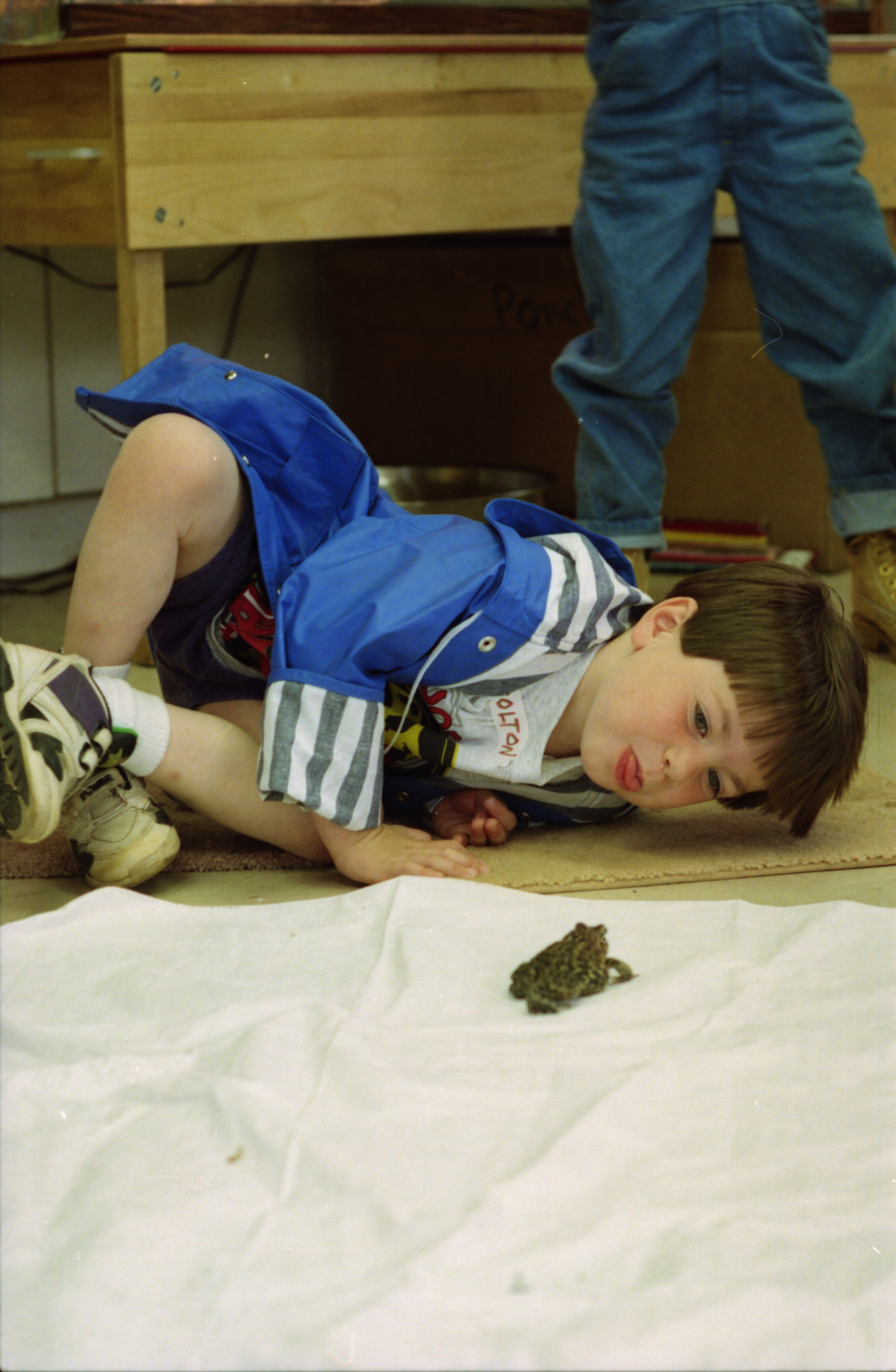 Colton Morozow and Toad, Leslie Science Center, May, 1994 image
