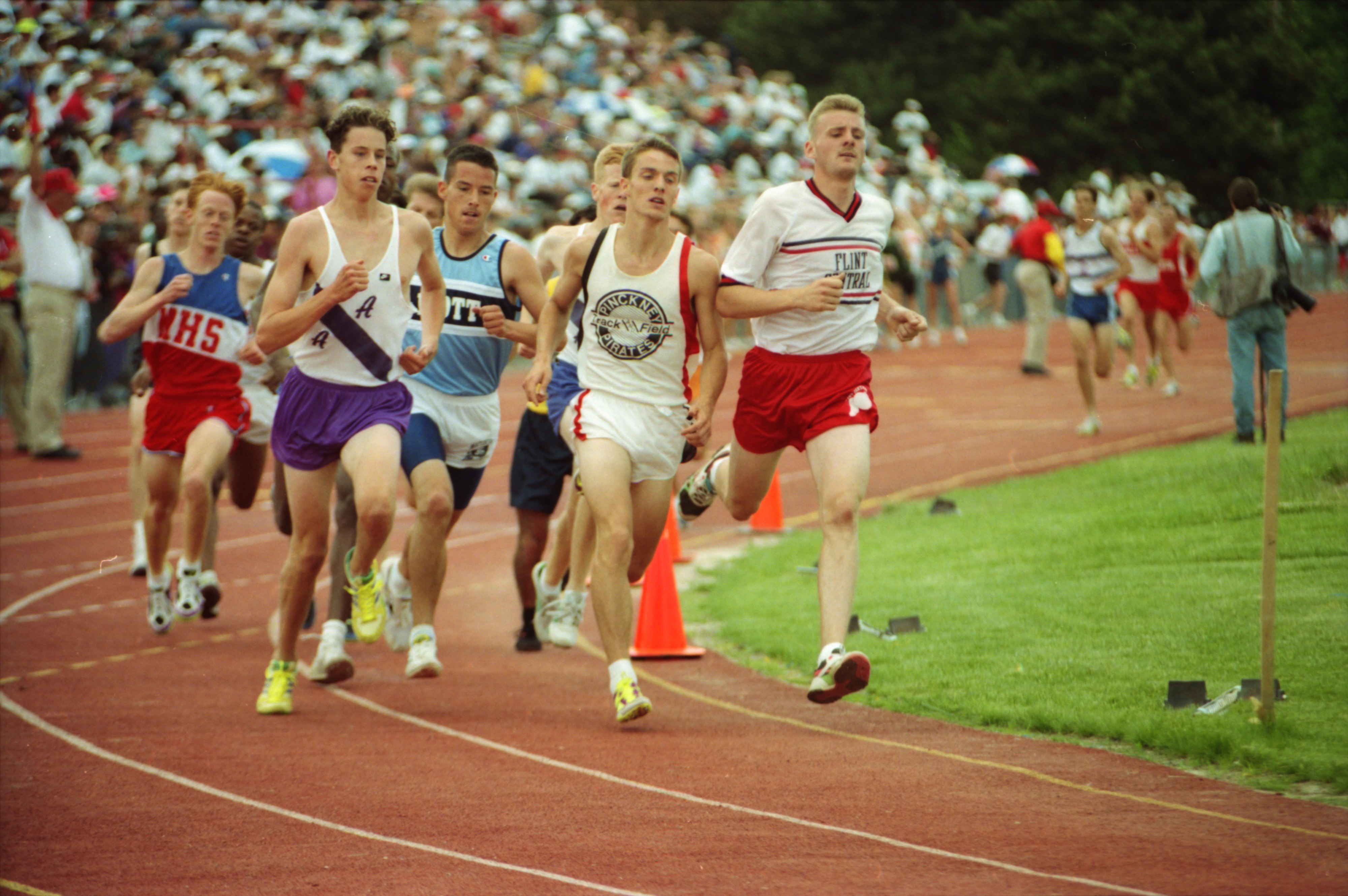Frontrunners in Boys' State Track Meet, June 1994 image