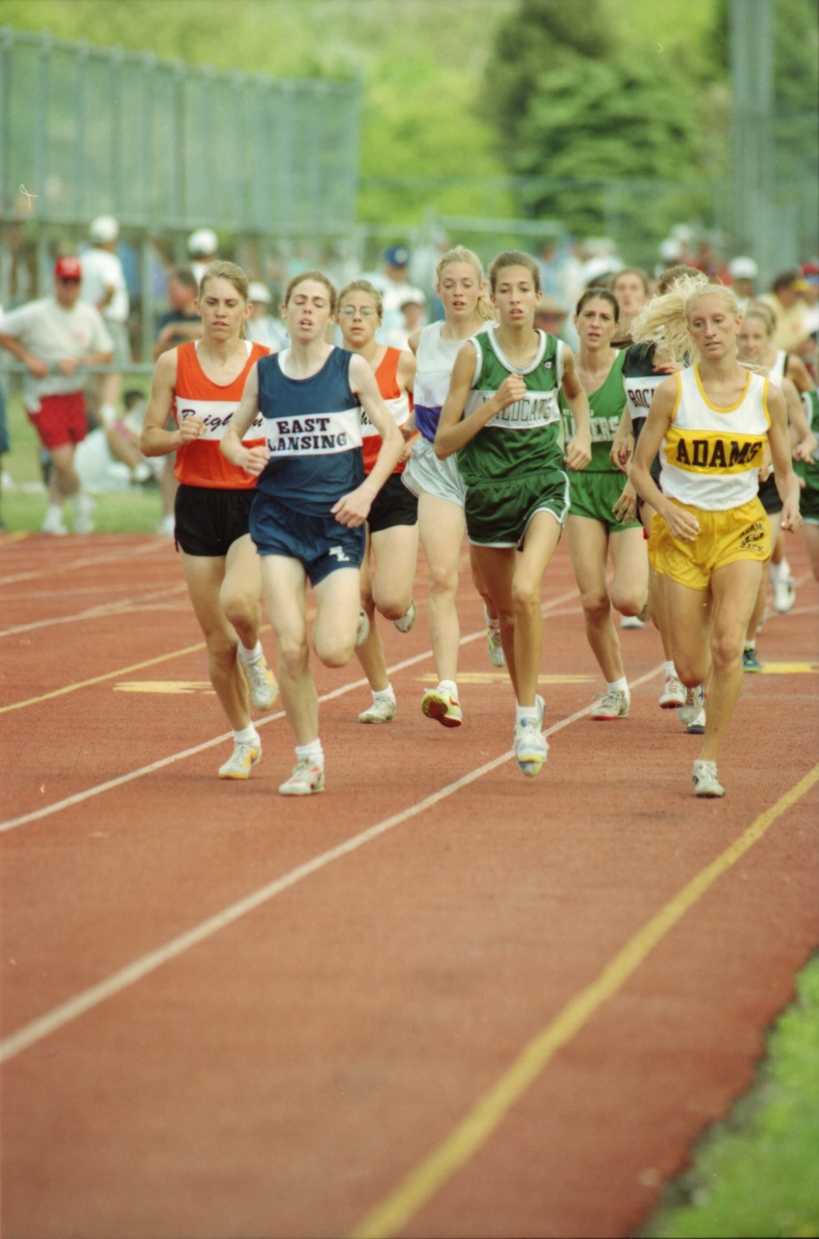 Frontrunners in Girls' State Track Meet, June 1994 image