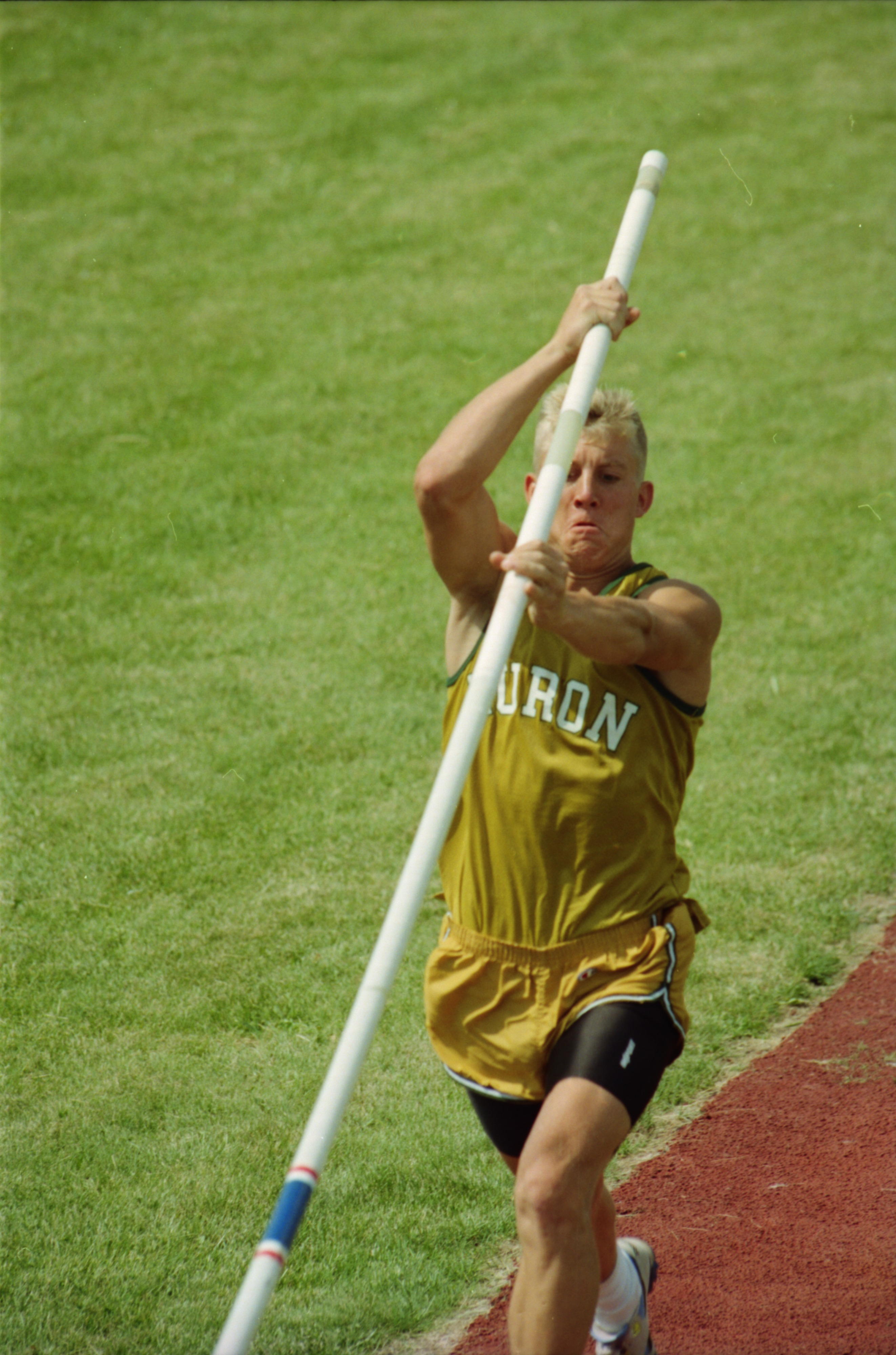 Kyle Novak Competes in Pole Vault at State Track Meet, June 1994 image